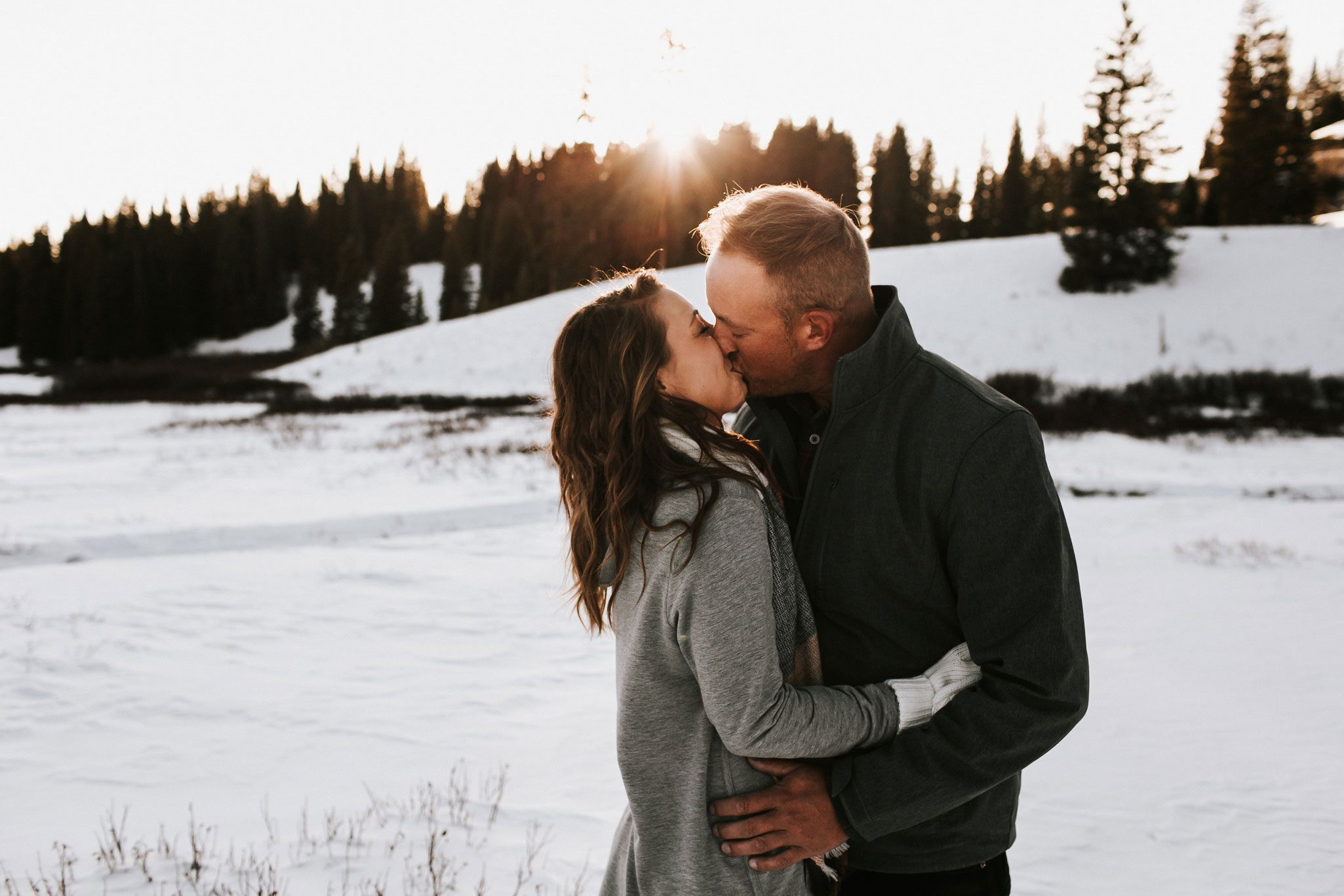 A Durango Engagement Shoot in the Snow by Wegher Photo + Film