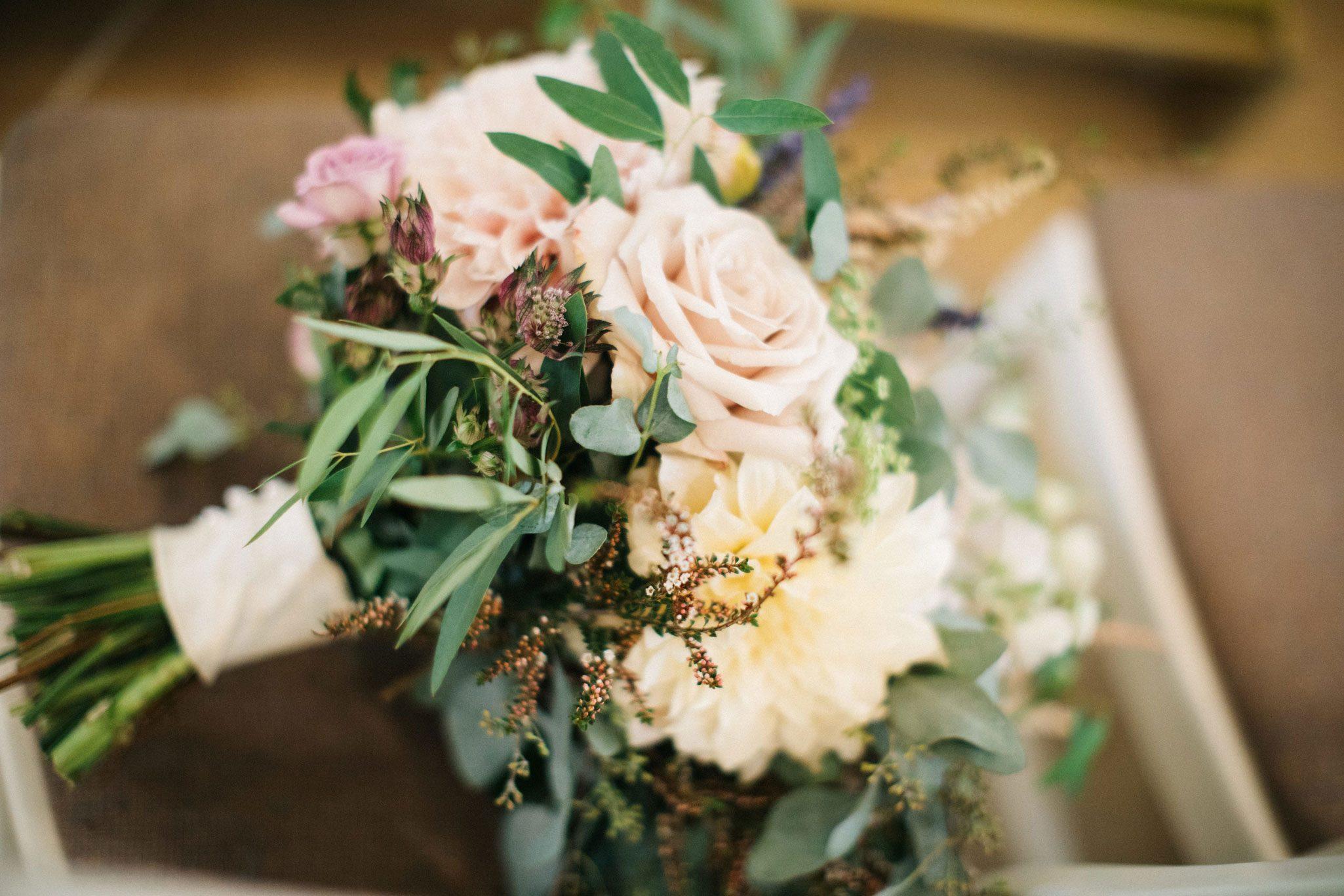 Boquet for a Romantic Garden Wedding in Durango, Colorado