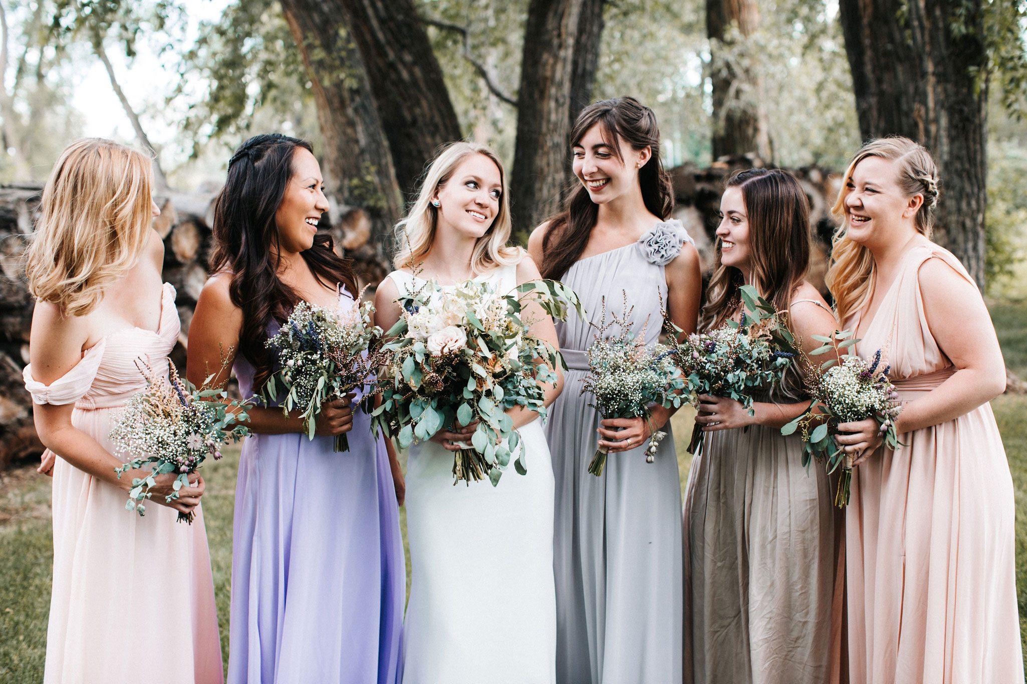 Bridesmaids   A Romantic Garden Wedding in Durango, Colorado