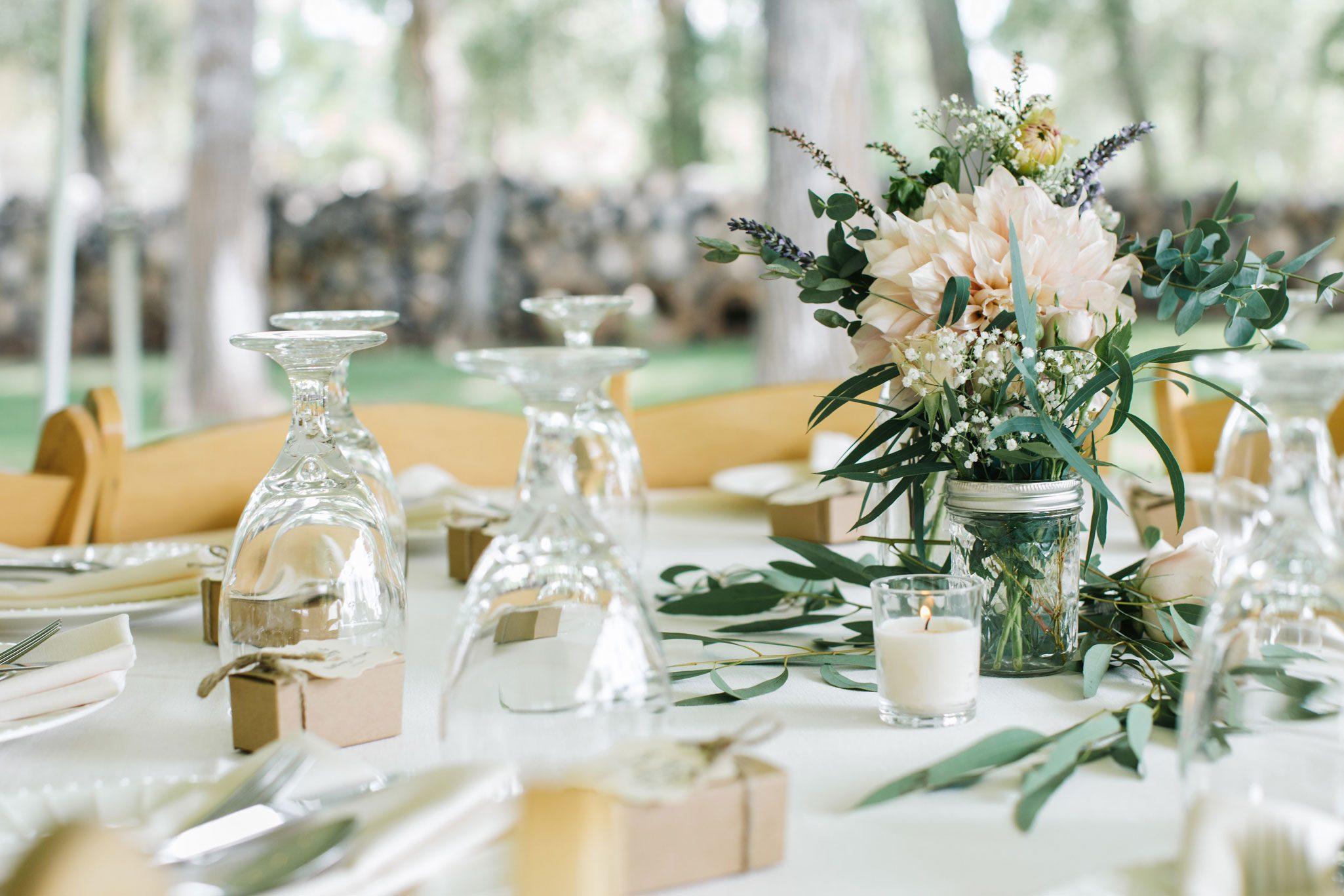 Tablescape   A Romantic Garden Wedding in Durango, Colorado