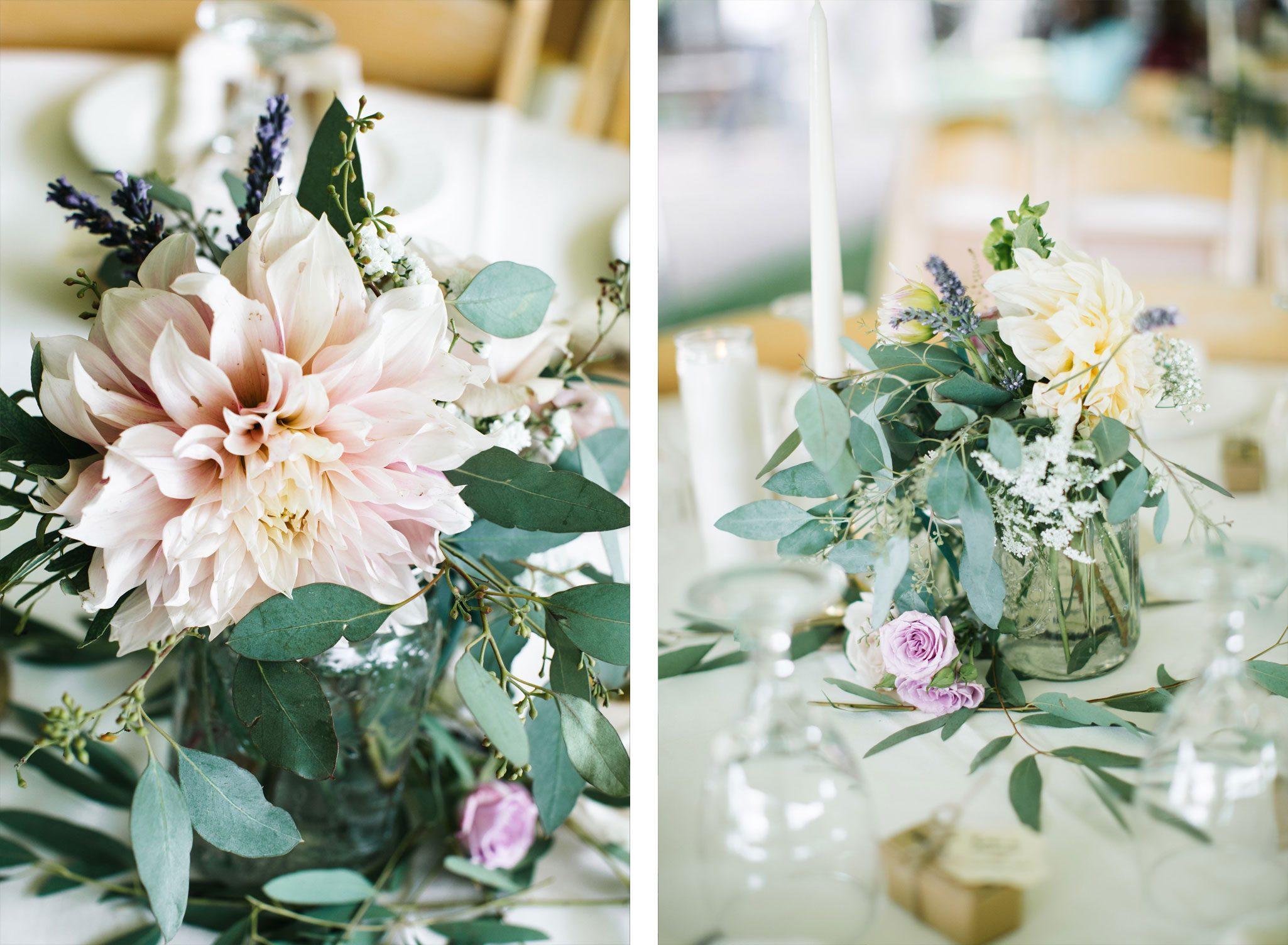 Reception tablescape   Garden Wedding in Durango, Colorado