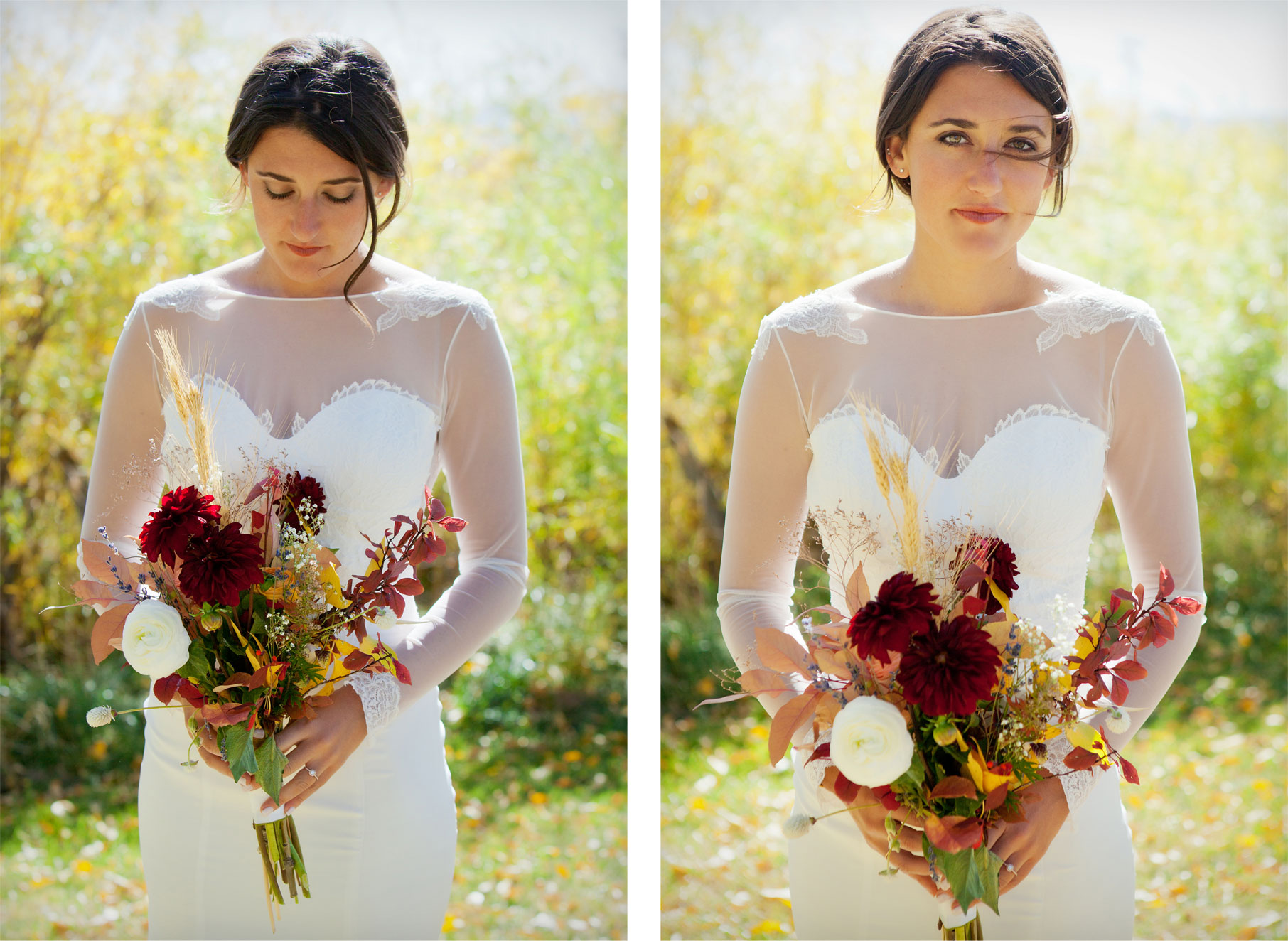 Bride - Florals - An Outdoor Autumn Wedding in Mancos, Colorado