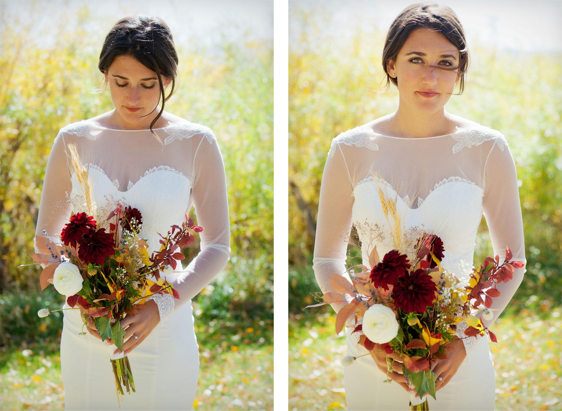 Bride - Florals - An Outdoor Autumn Wedding in Mancos, Colorado