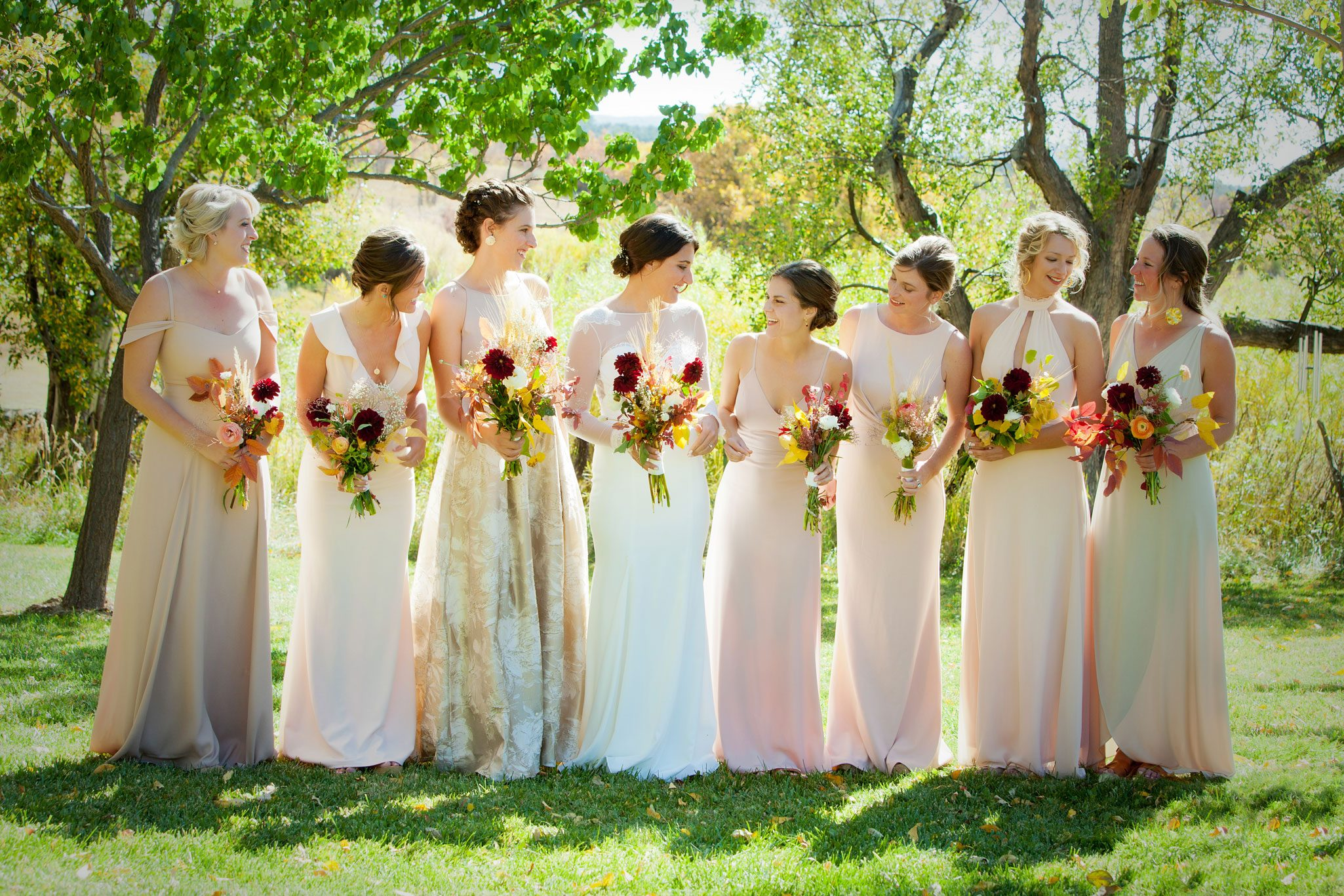 Bridesmaids | Outdoor Autumn Wedding in Mancos, Colorado