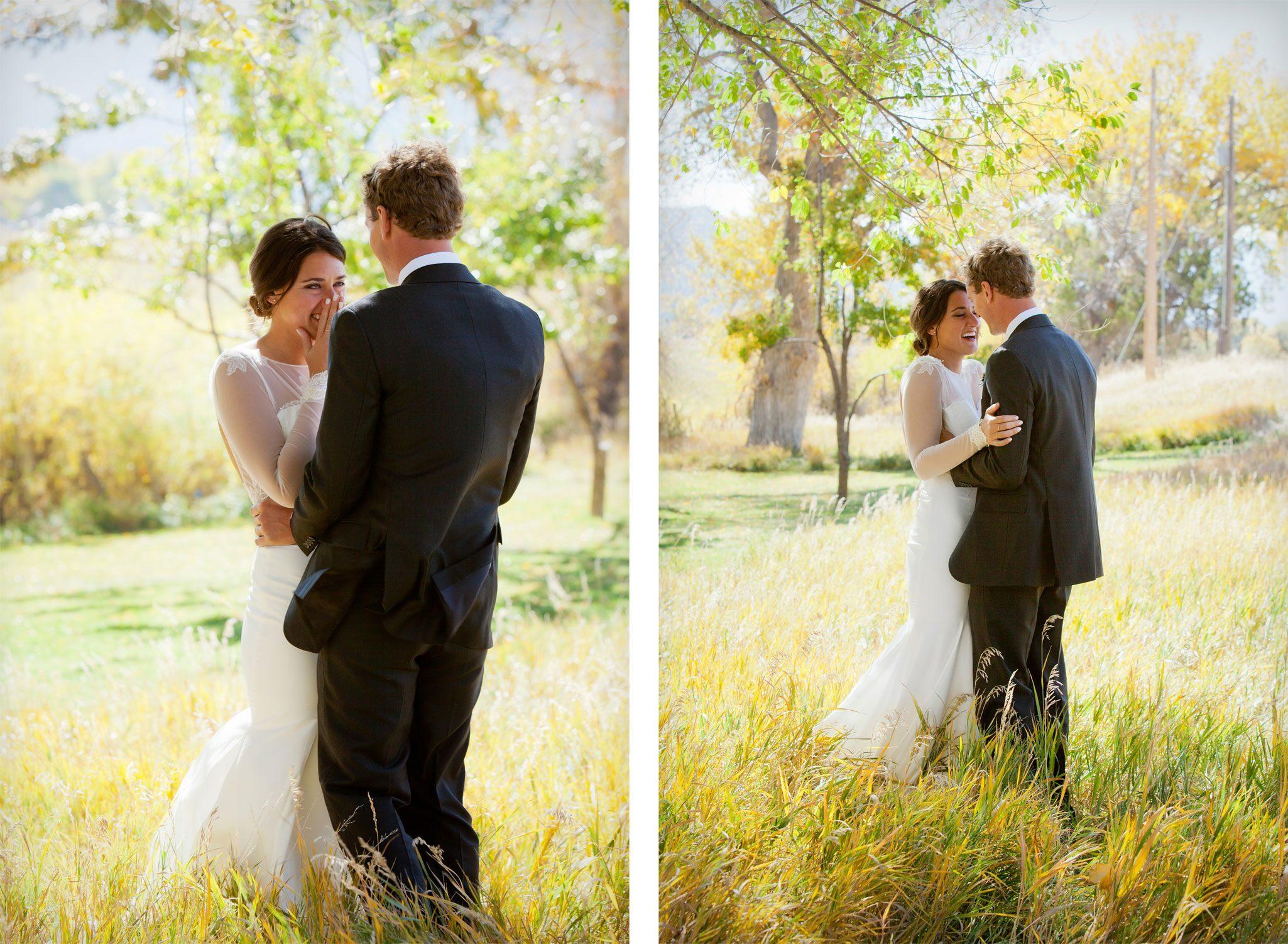 Bride & Groom   An Outdoor Autumn Wedding in Mancos, Colorado
