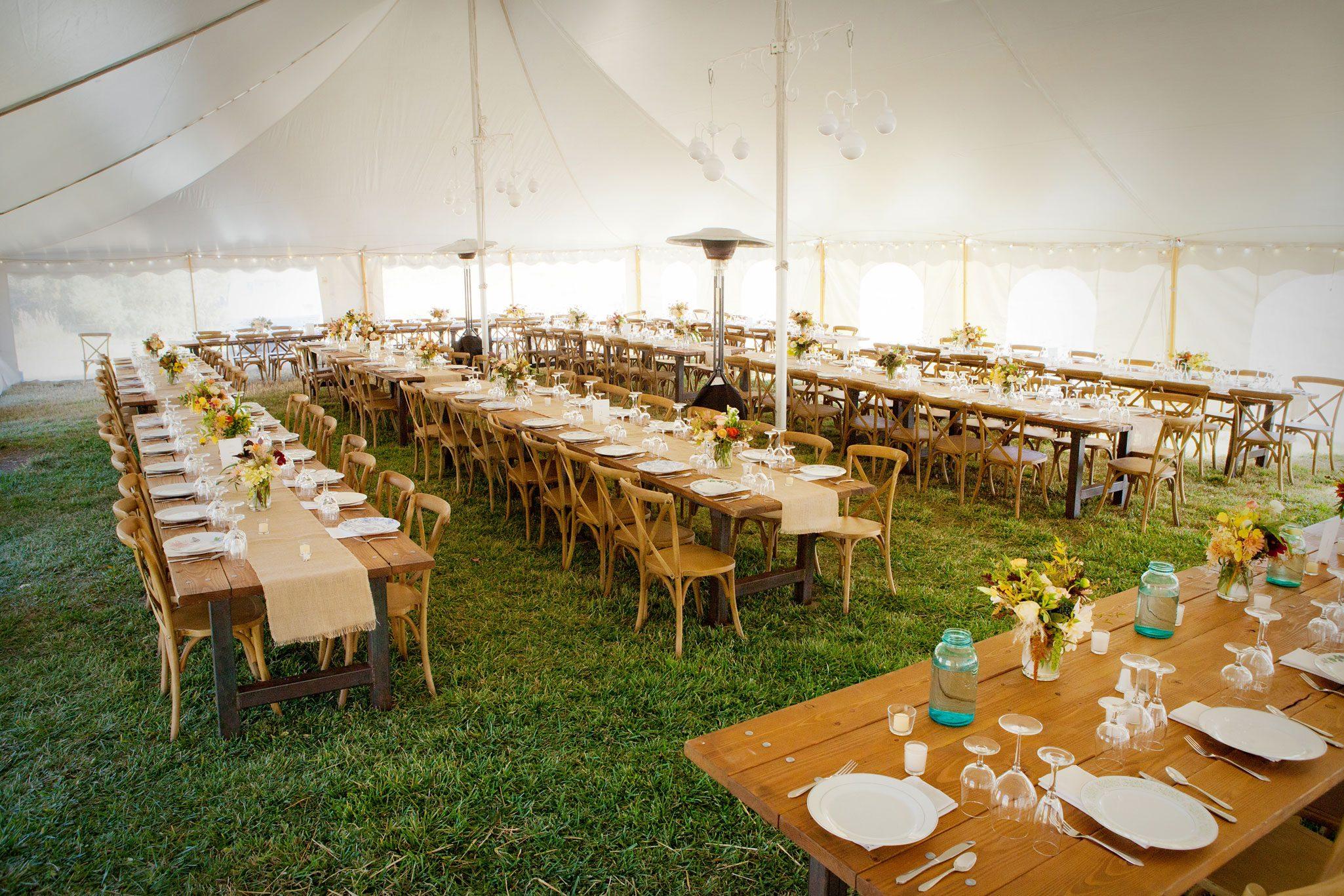 tent wedding in Mancos, Colorado