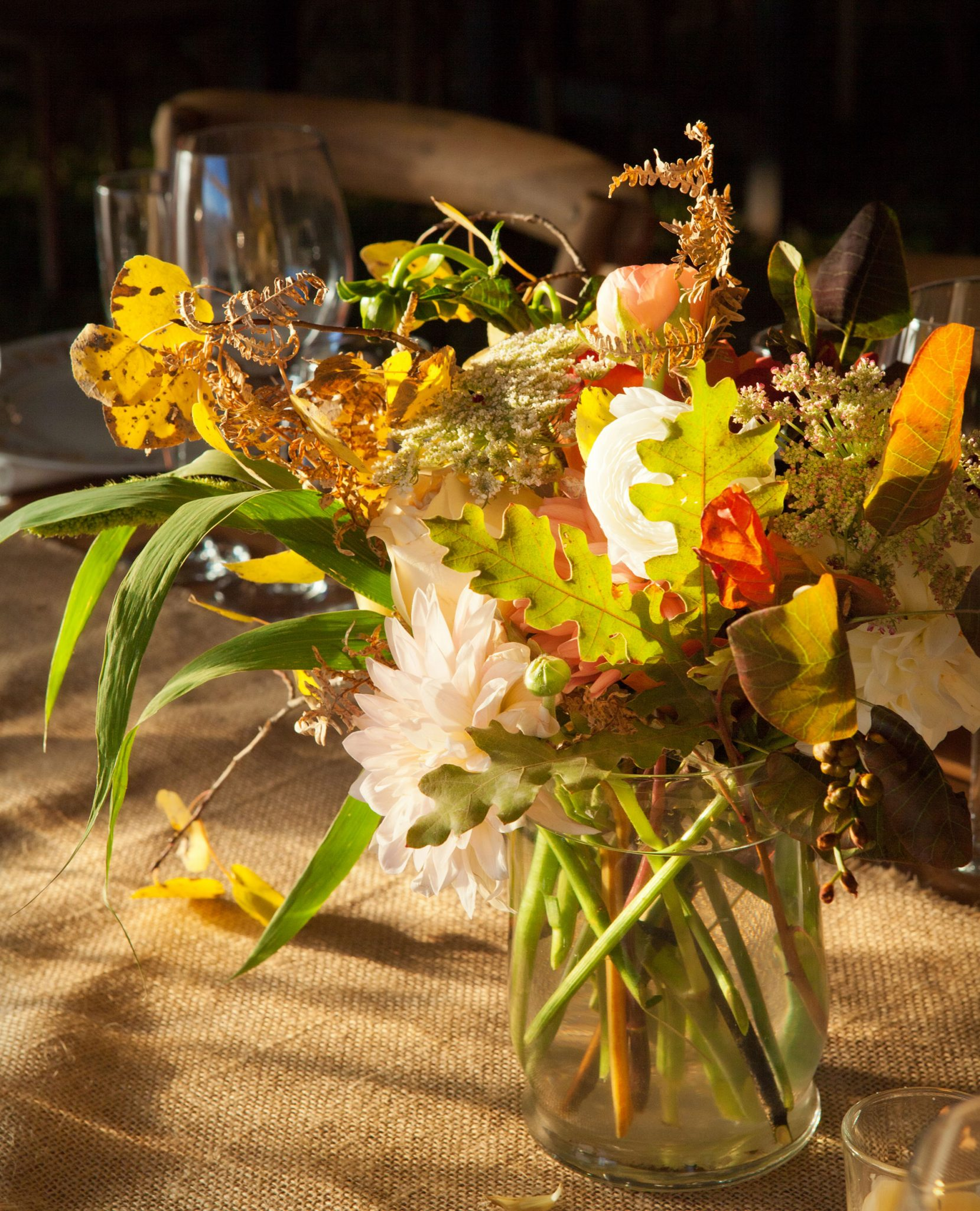 fall reception centerpiece