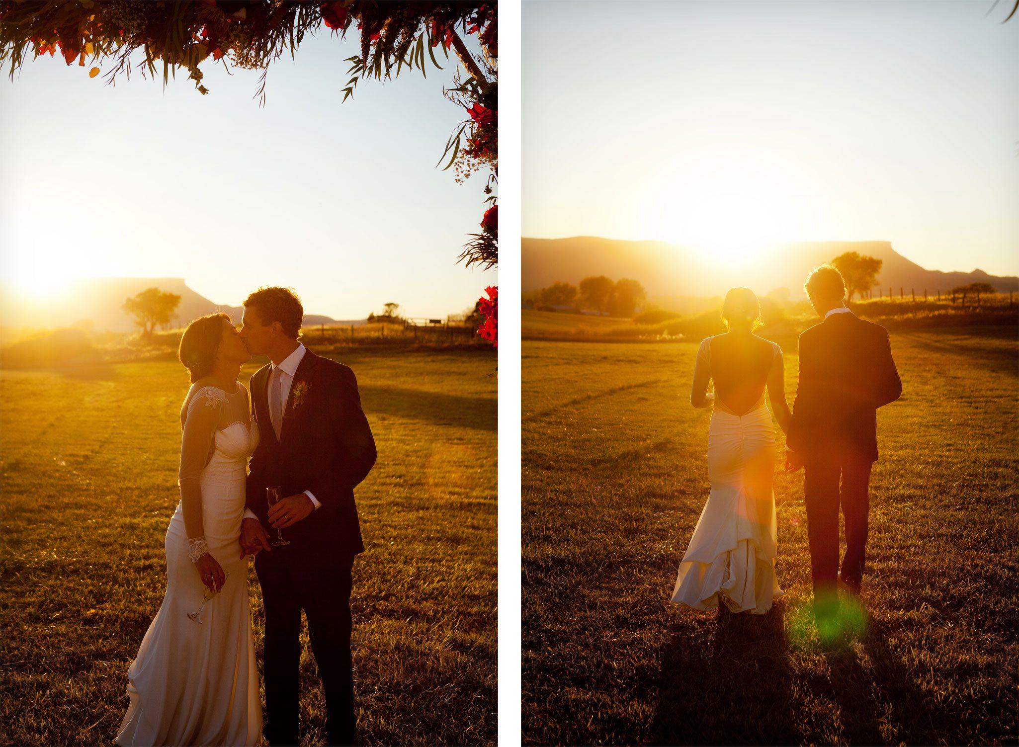 outdoor fall wedding in a field in Mancos, Colorado