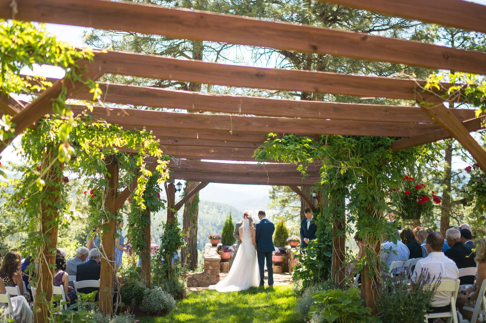 Ceremony arbor at Canyon Crest Lodge, Pagosa Springs