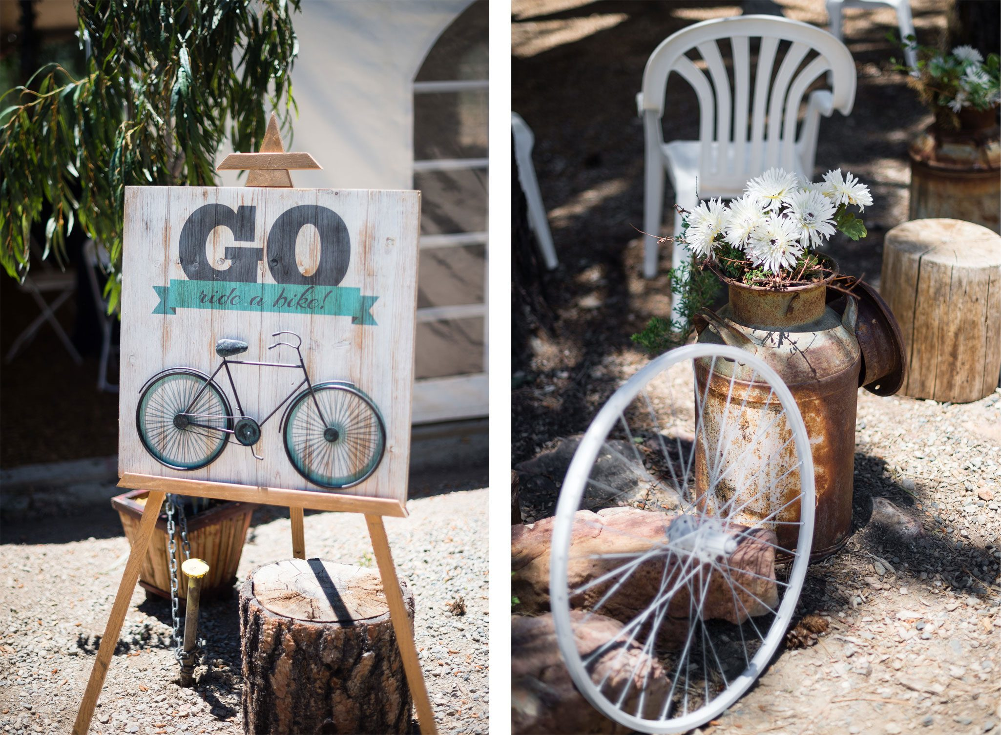 Vintage bike theme for a Destination wedding in the mountains of Pagosa Spring, Colorado