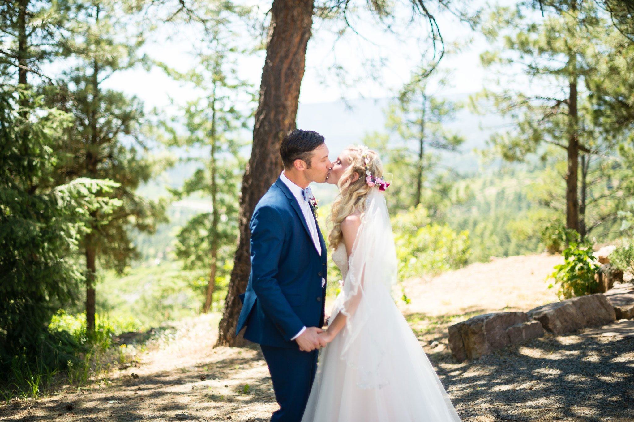 Destination wedding with a vintage bike theme in the mountains of Pagosa Spring, Colorado