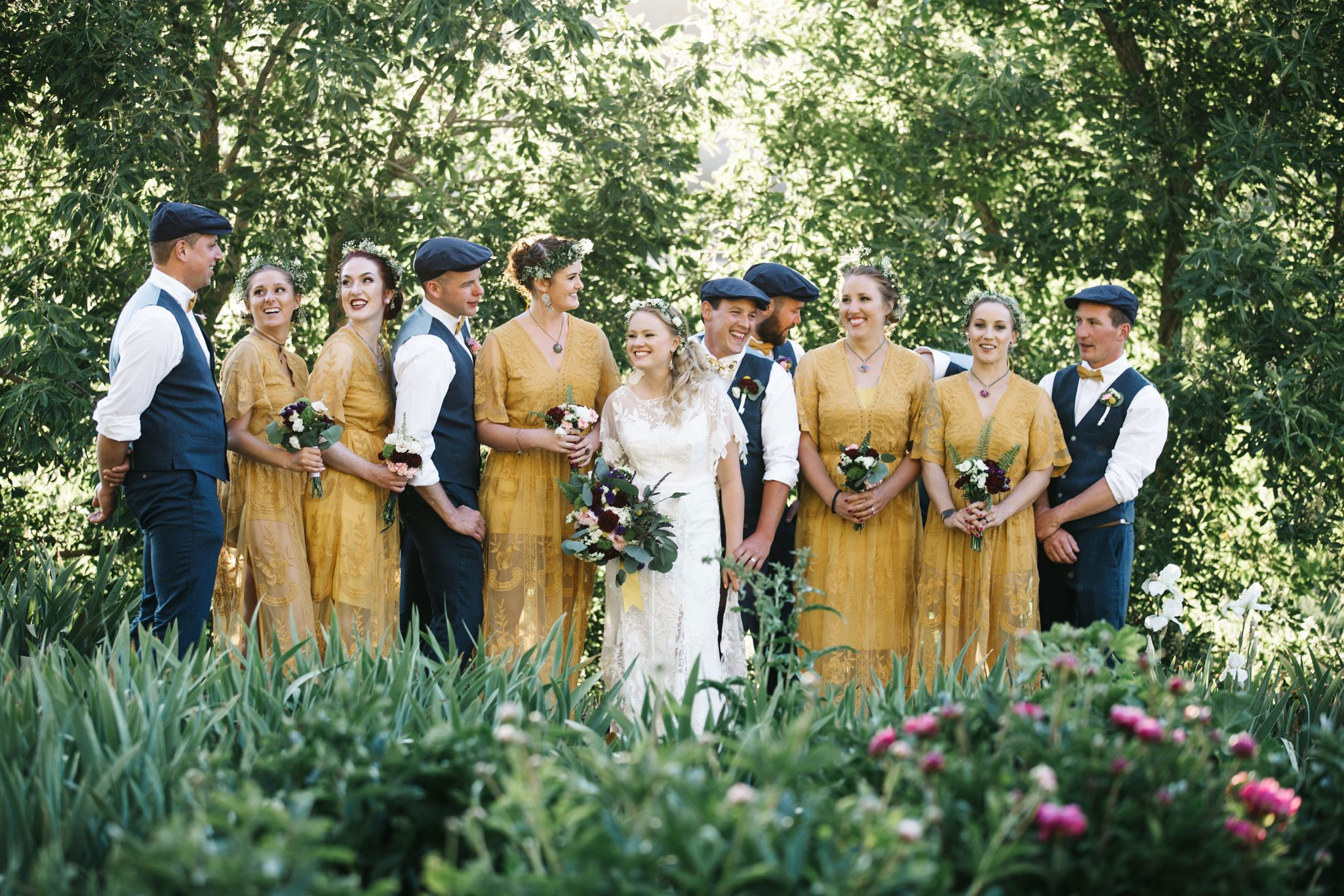 Wedding party at Ridgewood Event Center in Durango, Colorado