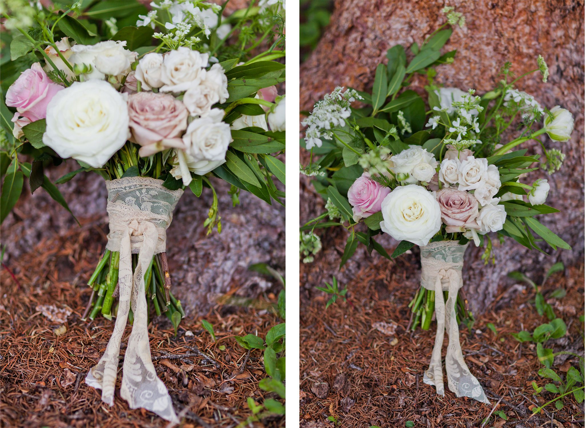 Flower bouquets | A Modern Mountaintop Destination Wedding at Purgatory Resort, Durango, Colorado