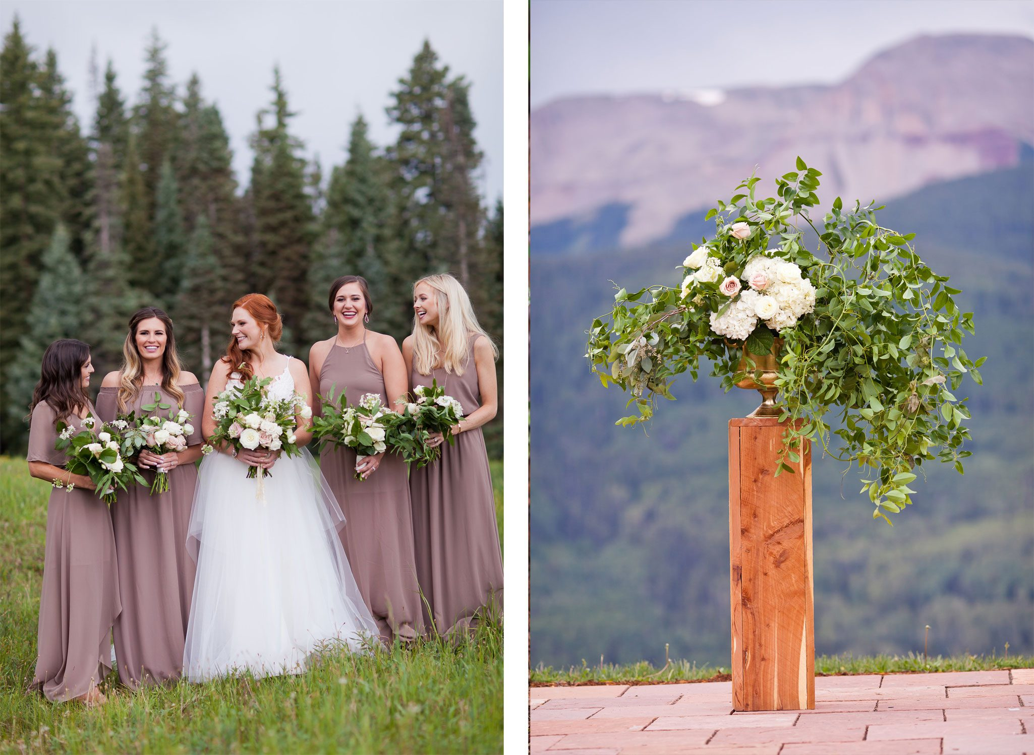 Flowers | A Modern Mountaintop Destination Wedding at Purgatory Resort, Durango, Colorado
