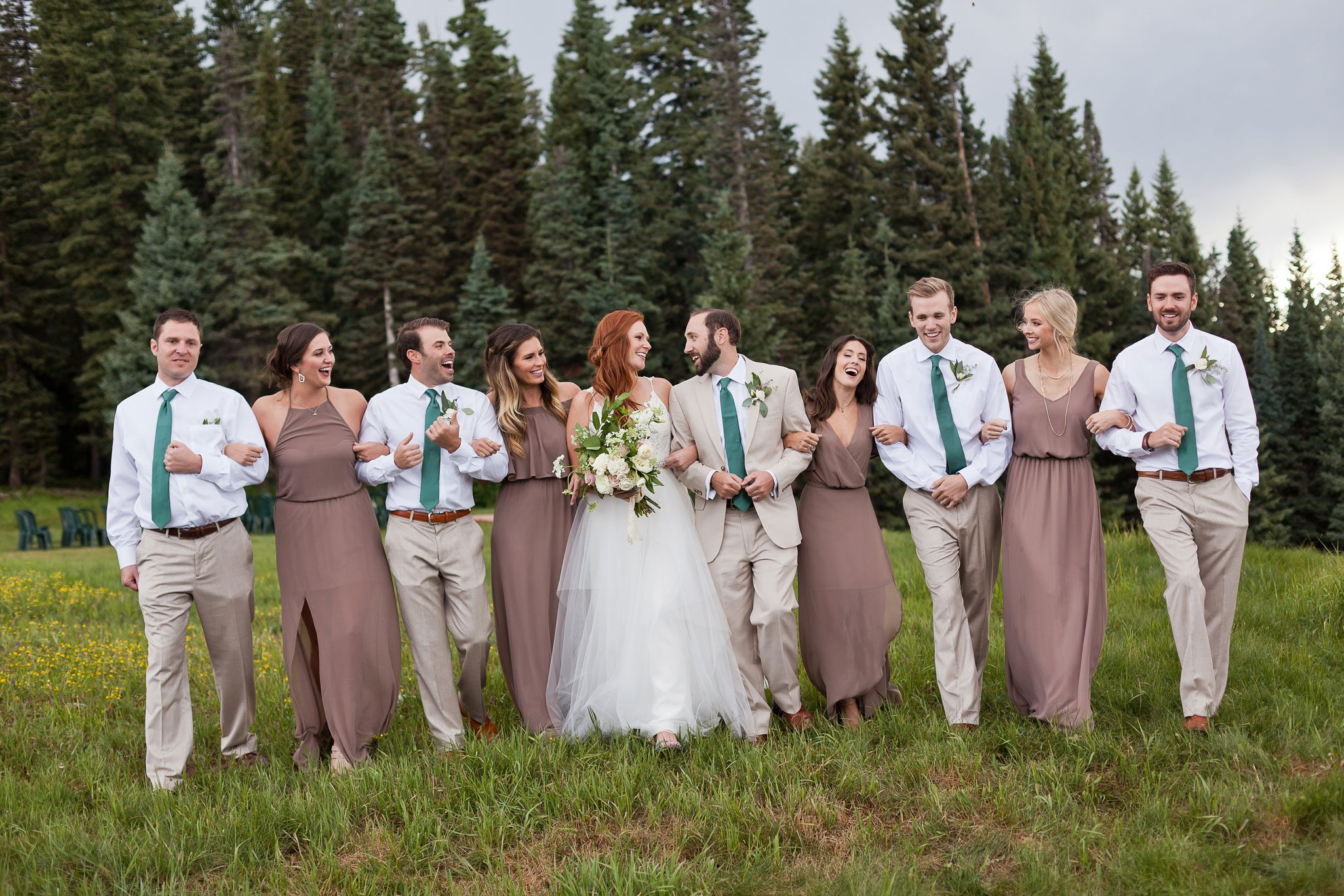 Wedding Party | A Mountaintop Wedding in Durango, Colorado