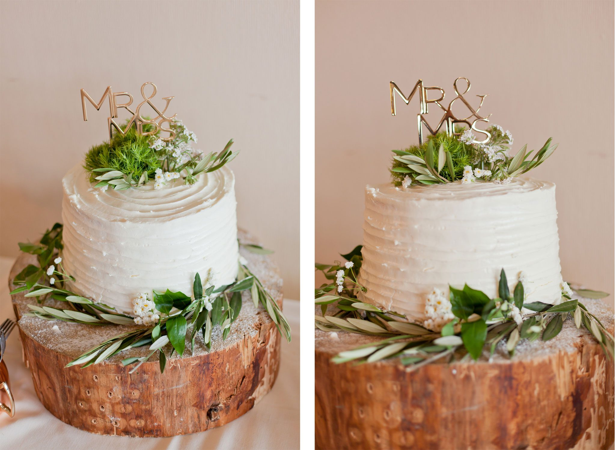 Simple & Natural Wedding Cake