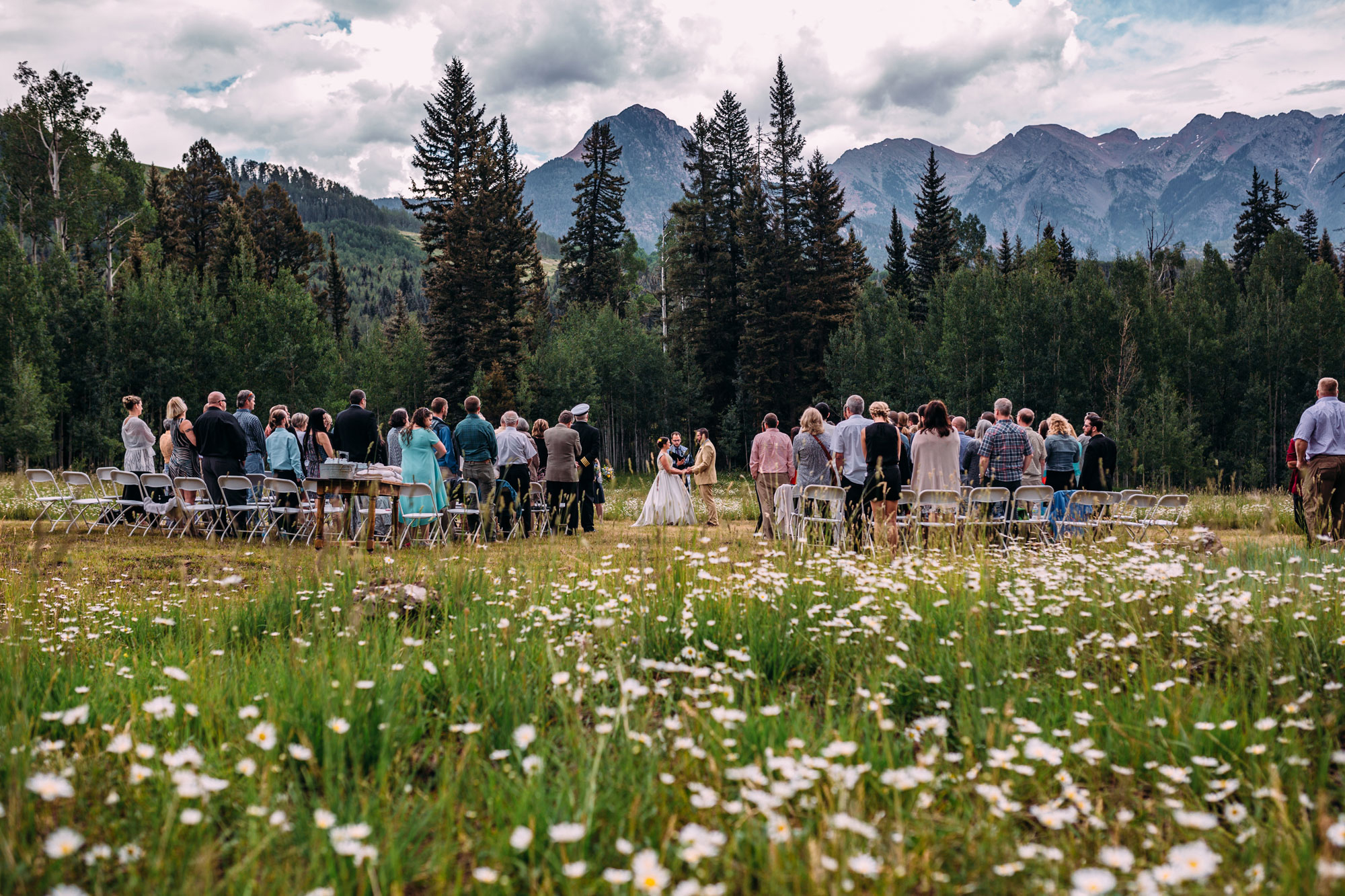 Ceremony site at Cascade Village, Durango, Colorado