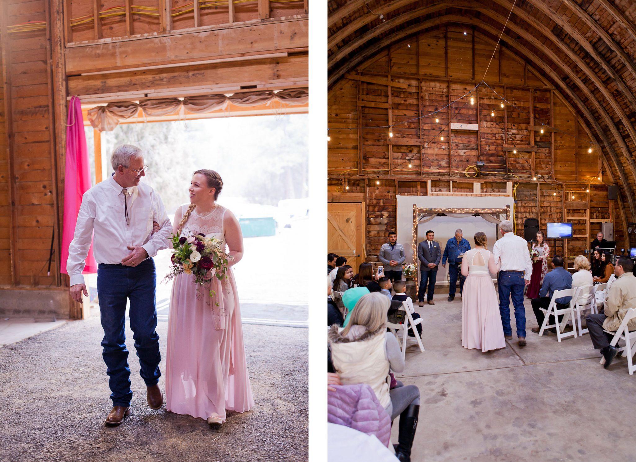 A Simple Rustic Barn Wedding at Reising Stage, Durango, Colorado