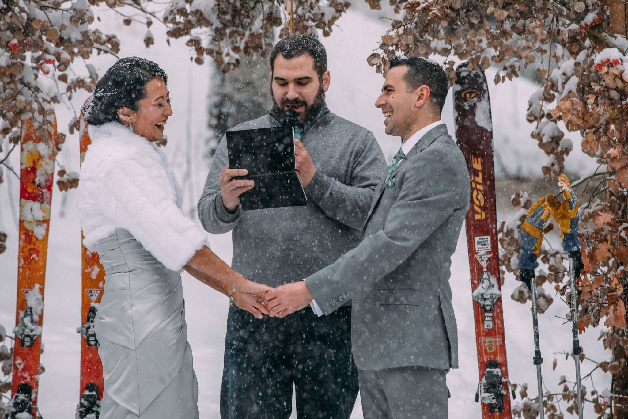 Ceremony | A Winter Wedding in the Snow at Silverpick Lodge, Durango Colorado