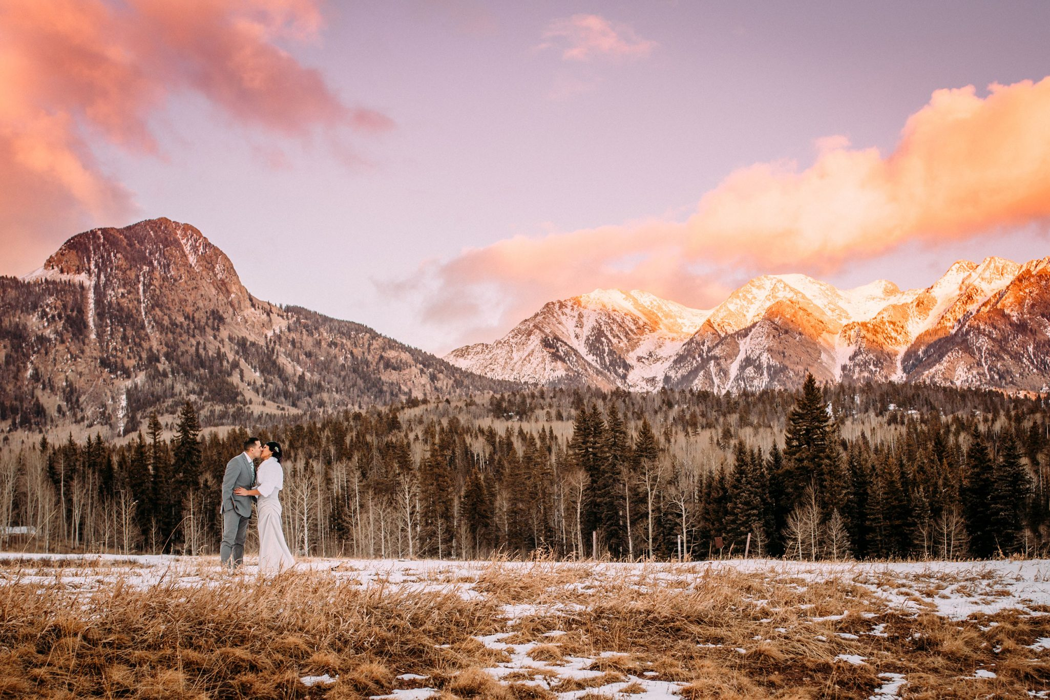 A Winter Wedding in the Snow at Silverpick Lodge, Durango Colorado