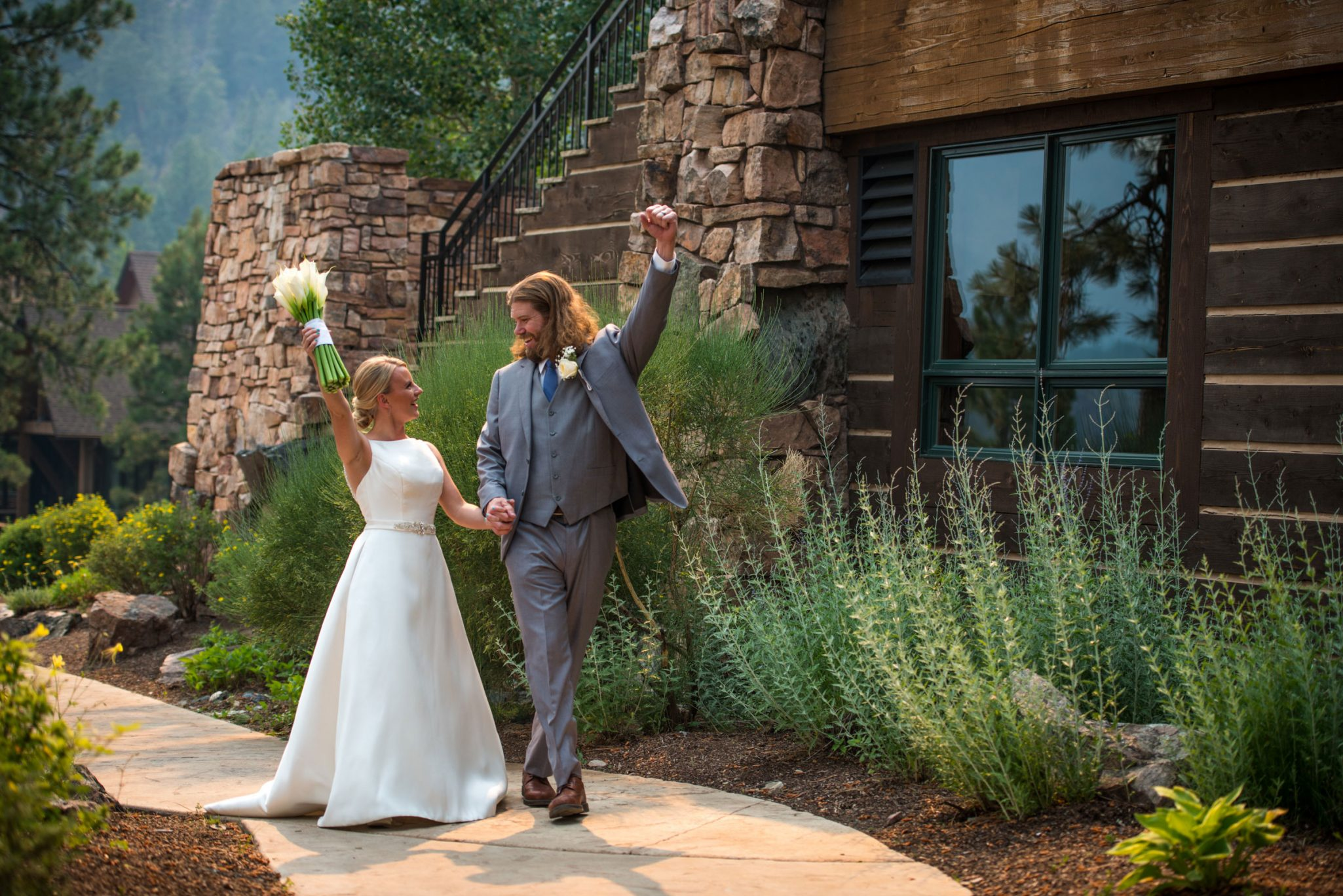 Bride & Groom at the Glacier Club, Durango Colorado
