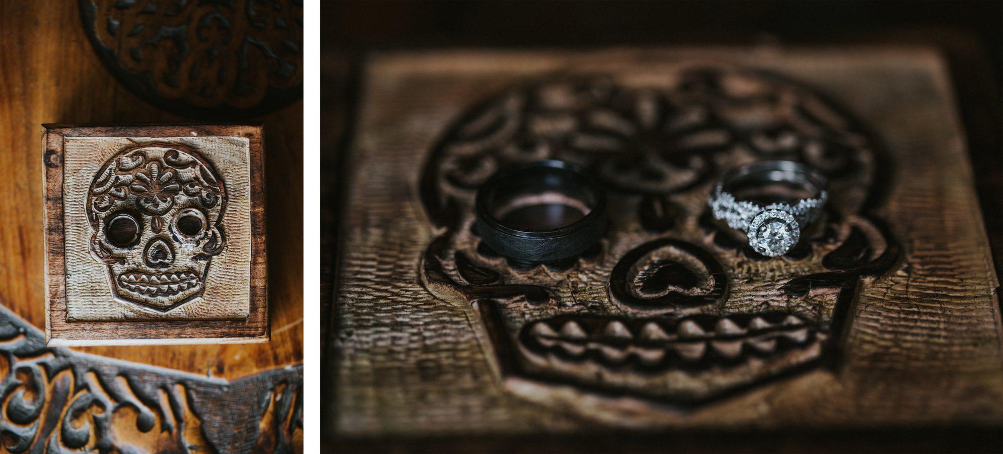Handmade skull ring box