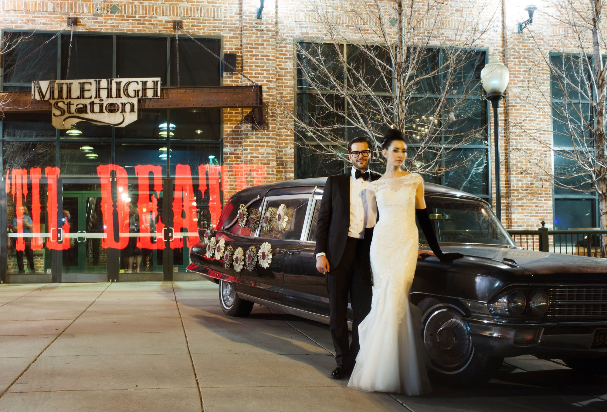 Drive off into the sunset in a vintage hearse