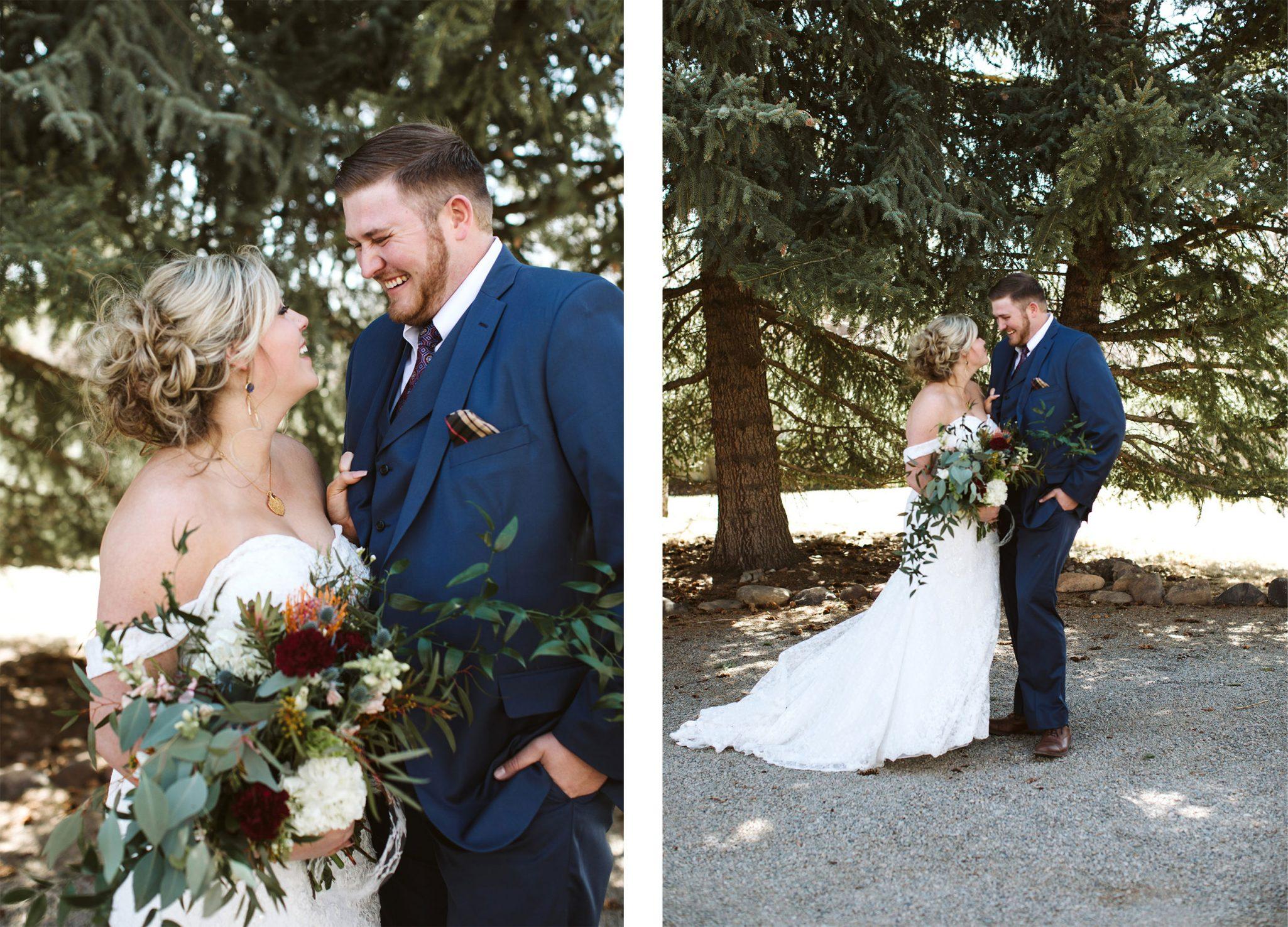 Bride & Groom at Ridgewood Event Center | Durango Weddings Magazine