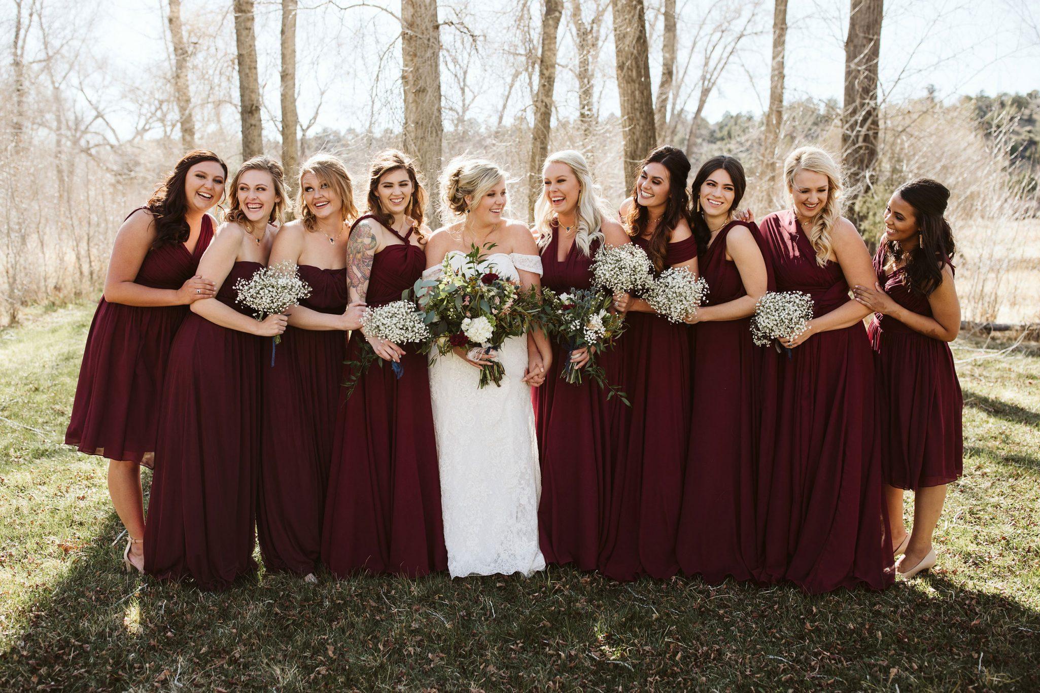 Bridesmaids via Durango Weddings Magazine