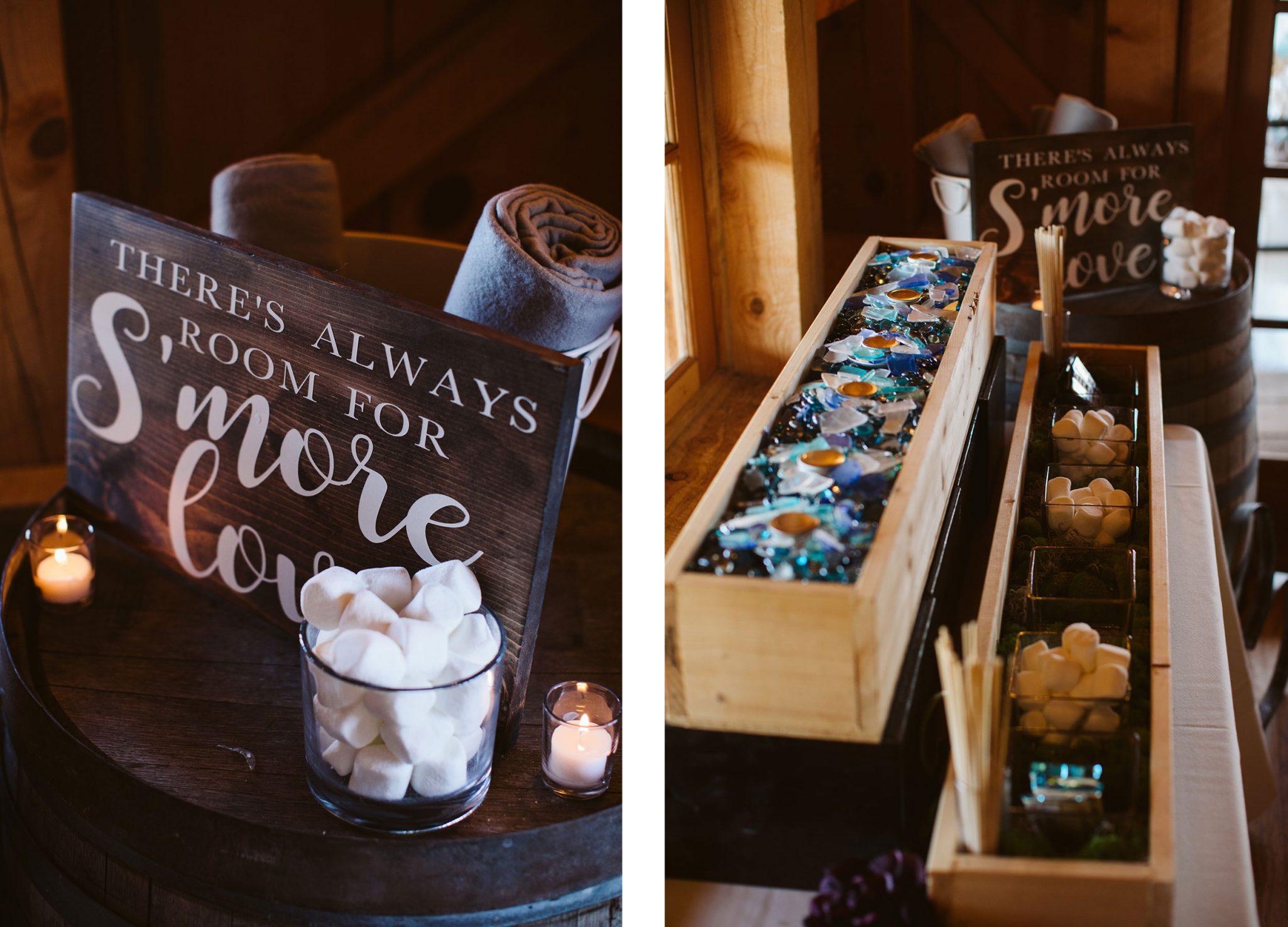 S'mores at wedding reception | Durango Weddings Magazine