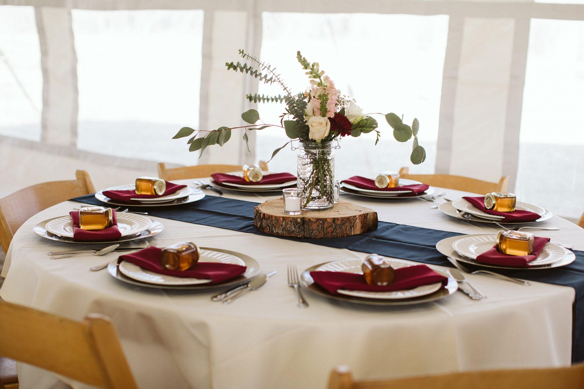 wedding reception decor at Ridgewood Event Center | Durango Weddings Magazine