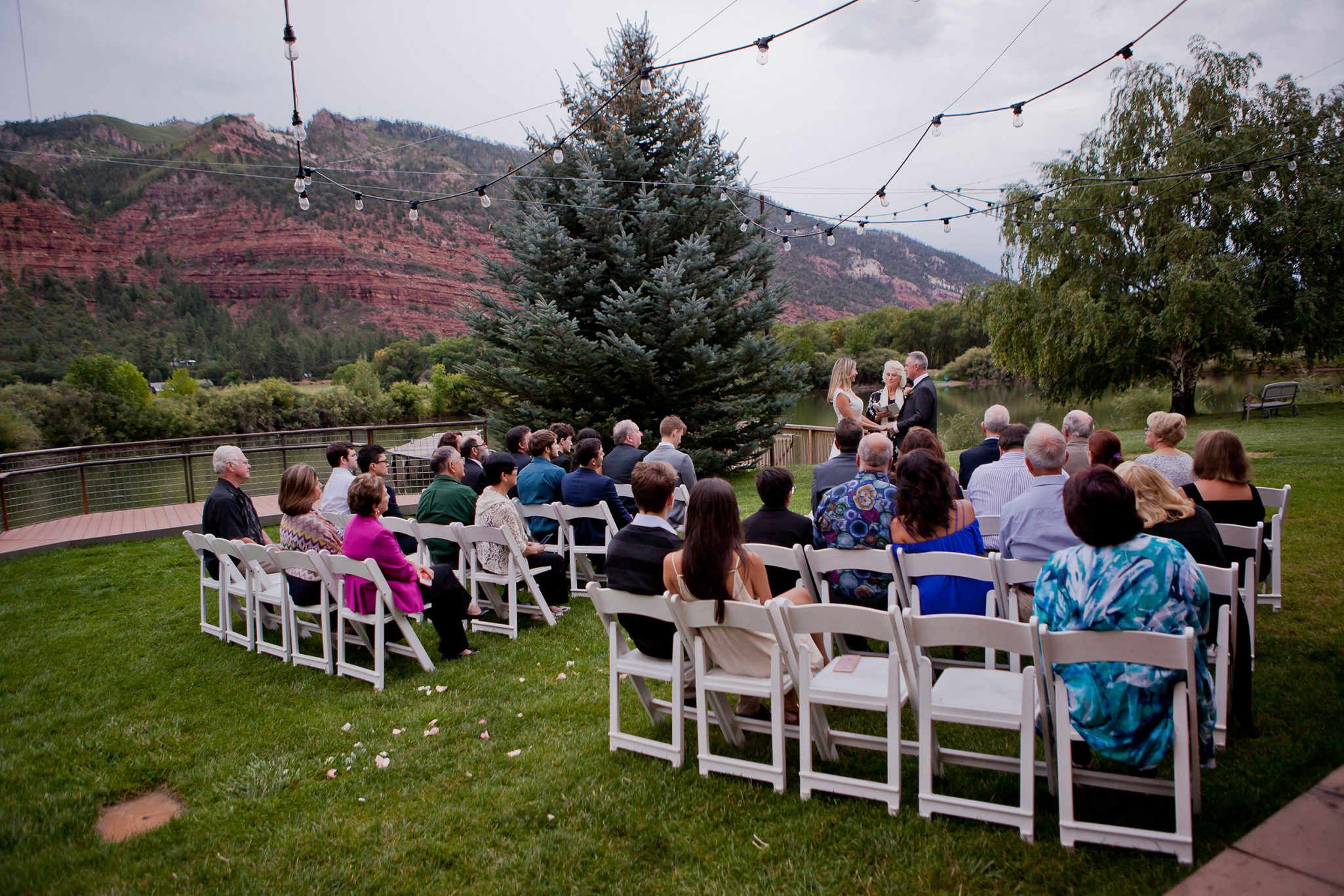 Outdoor ceremony | A Simple Durango Wedding Planned in Three Months at River Bend Ranch