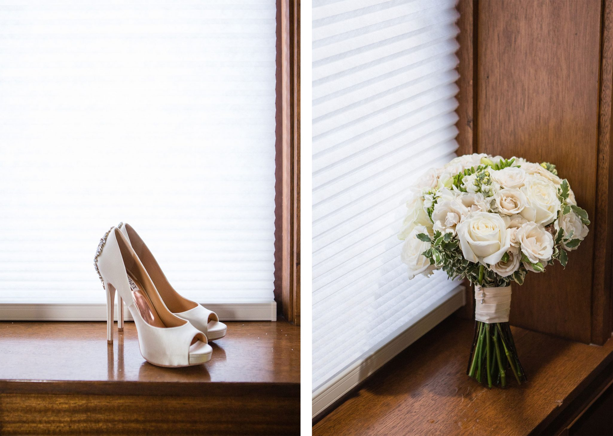Wedding day details - shoes + bouquet