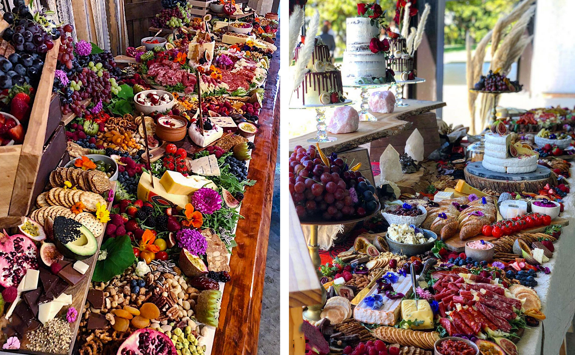 grazing tables at weddings