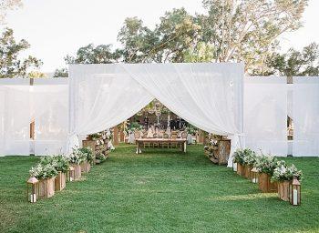 Tent Reception Entrances