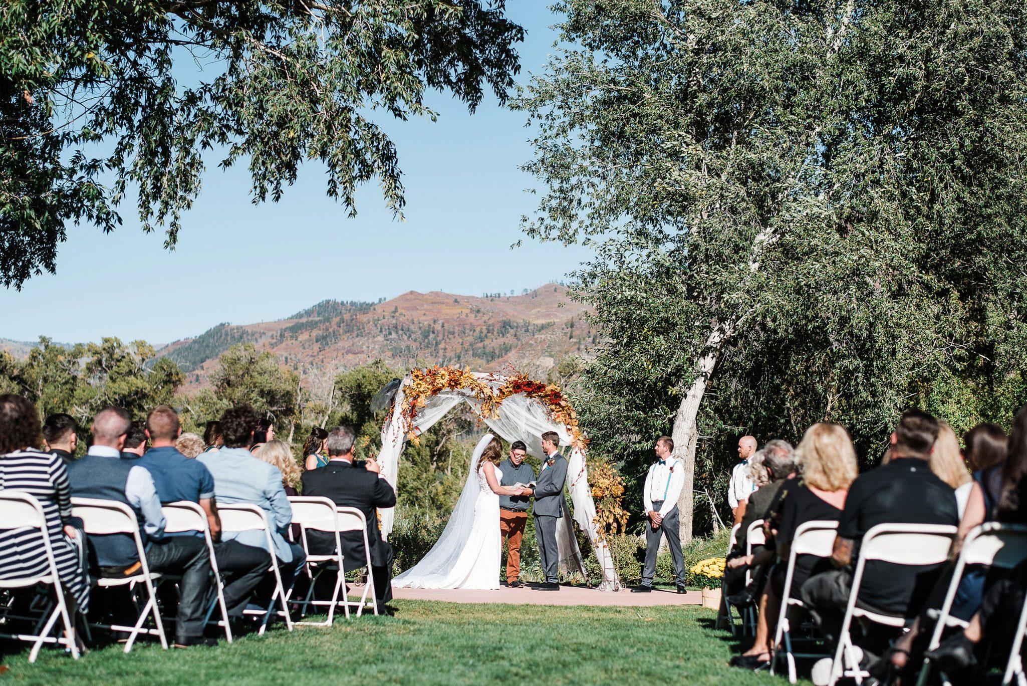 Ceremony at Dalton Ranch Golf Club, Durango Colorado