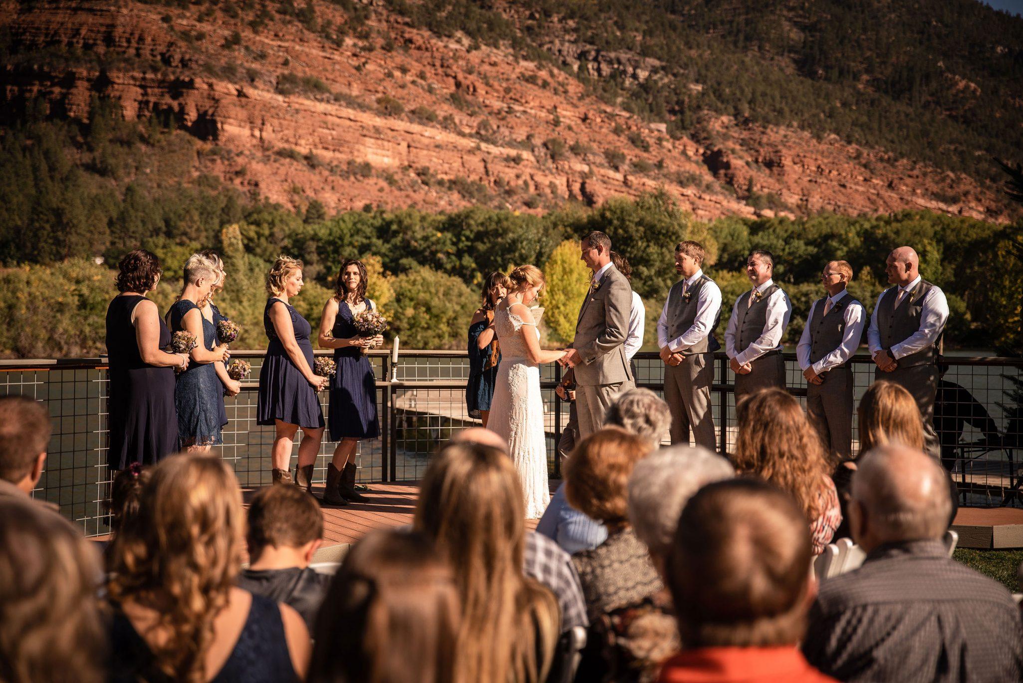 Outdoor ceremony at River Bend Ranch   Durango Weddings Magazine