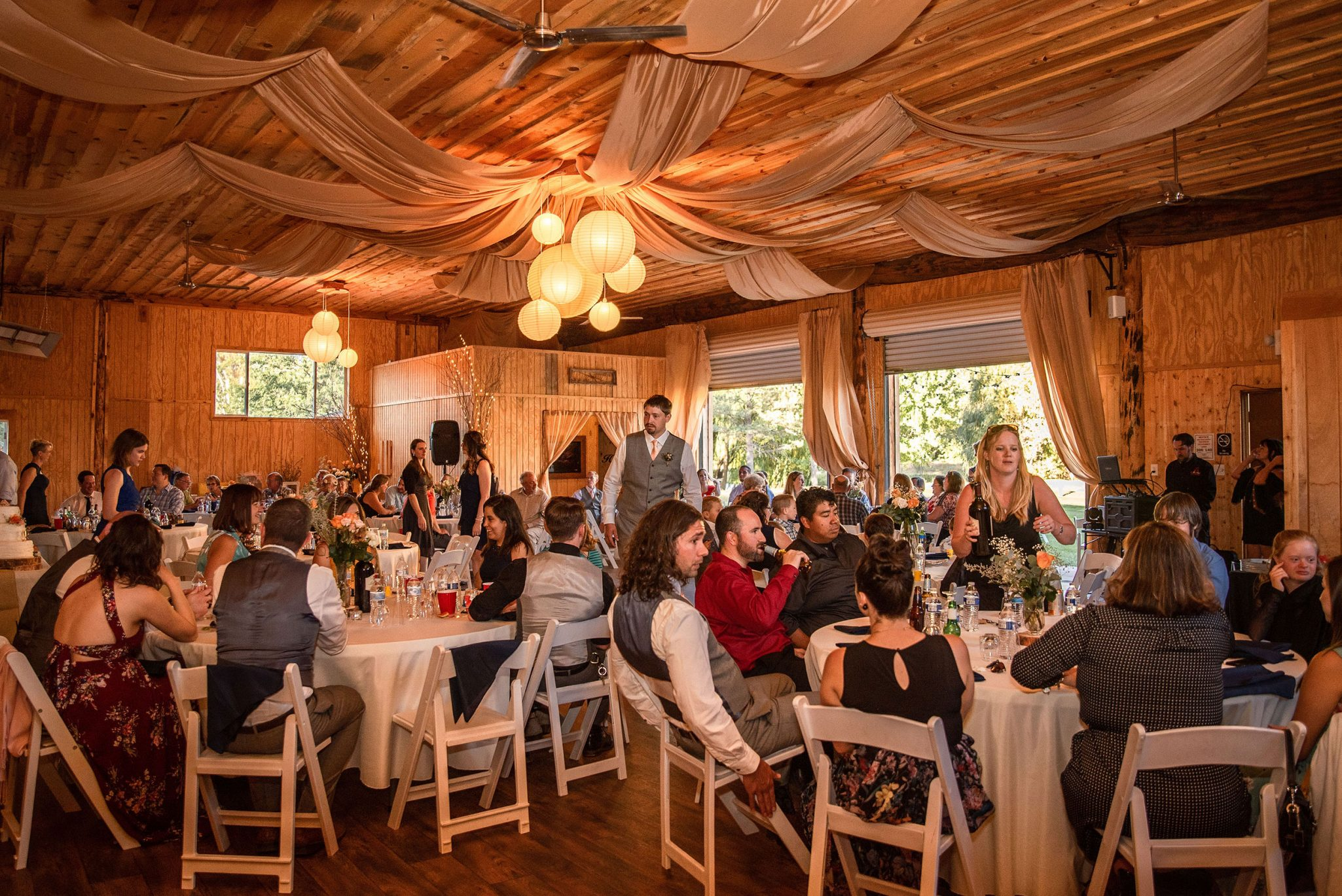 Wedding reception at River Bend Ranch | Durango Weddings Magazine