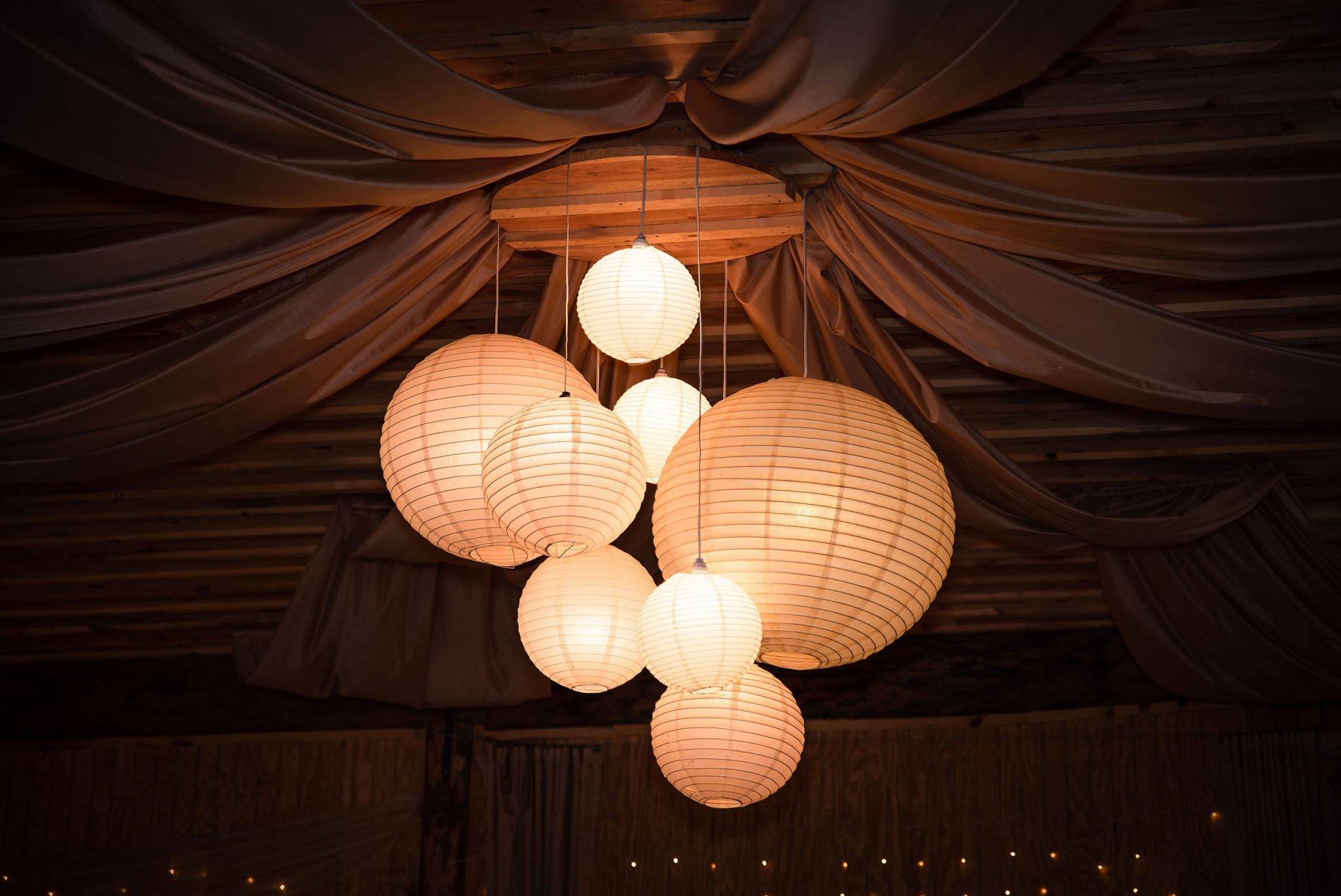 Wedding reception decor at River Bend Ranch | Durango Weddings Magazine