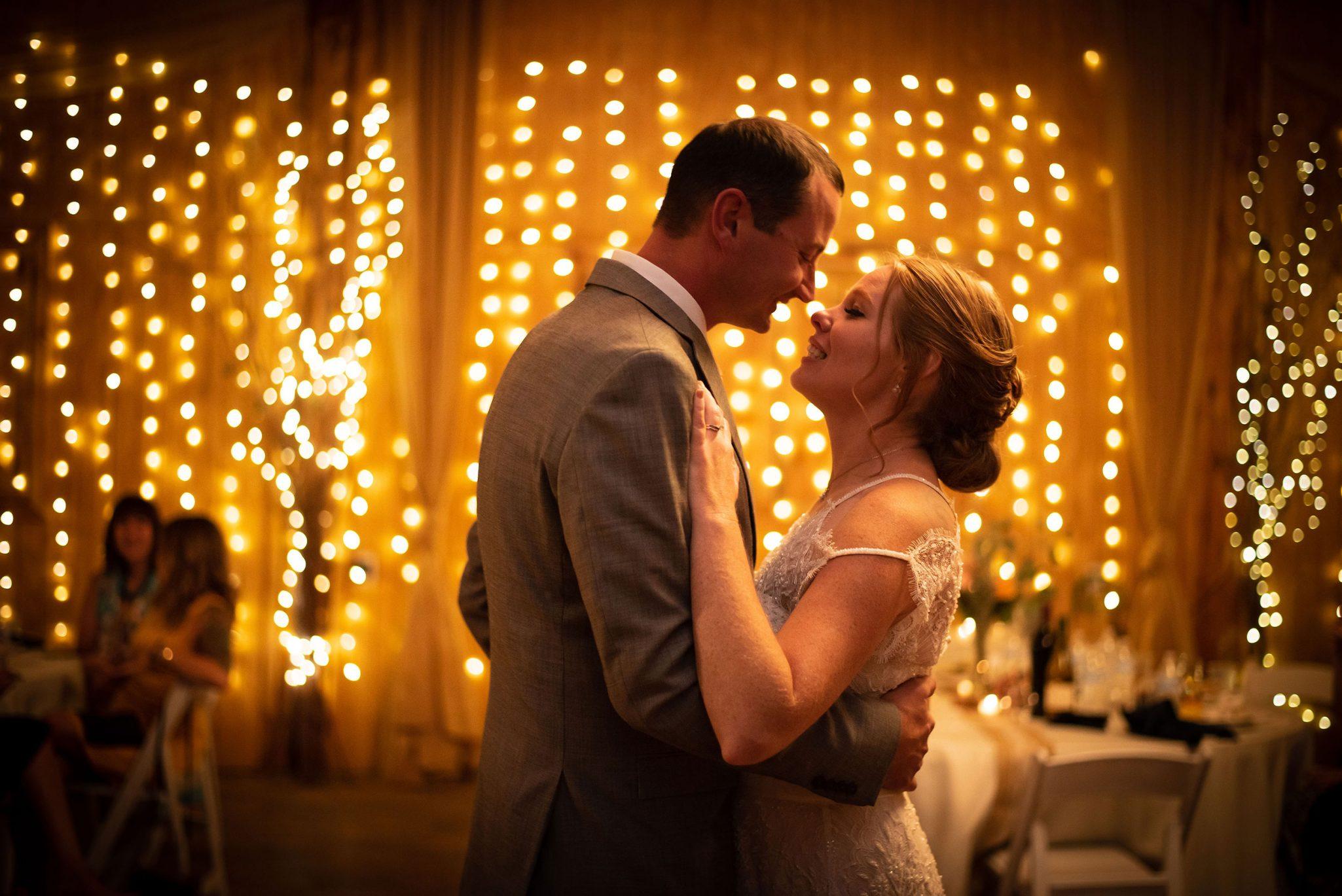 Wedding reception first dance with Bride and Groom   Durango Weddings Magazine