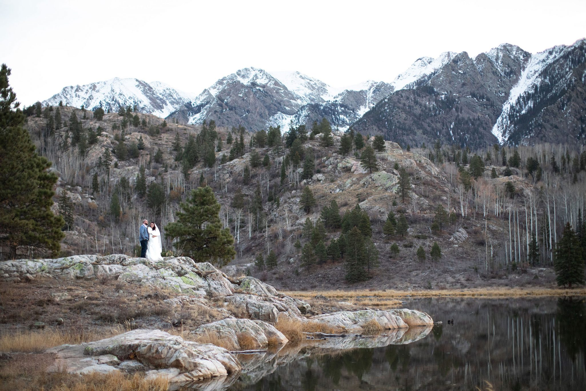 An intimate elopement ceremony in the San Juan Mountains, Durango