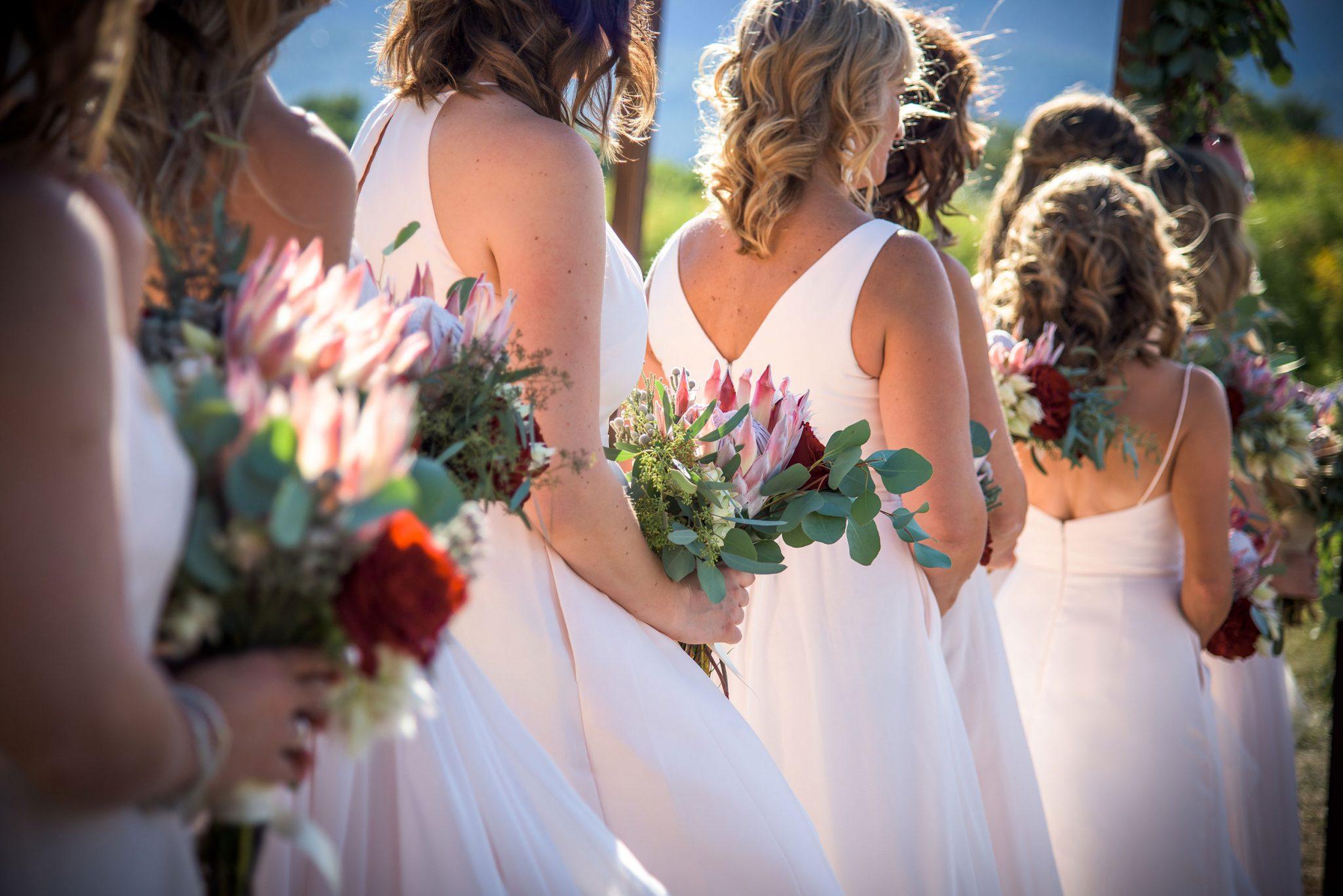 wedding party florals