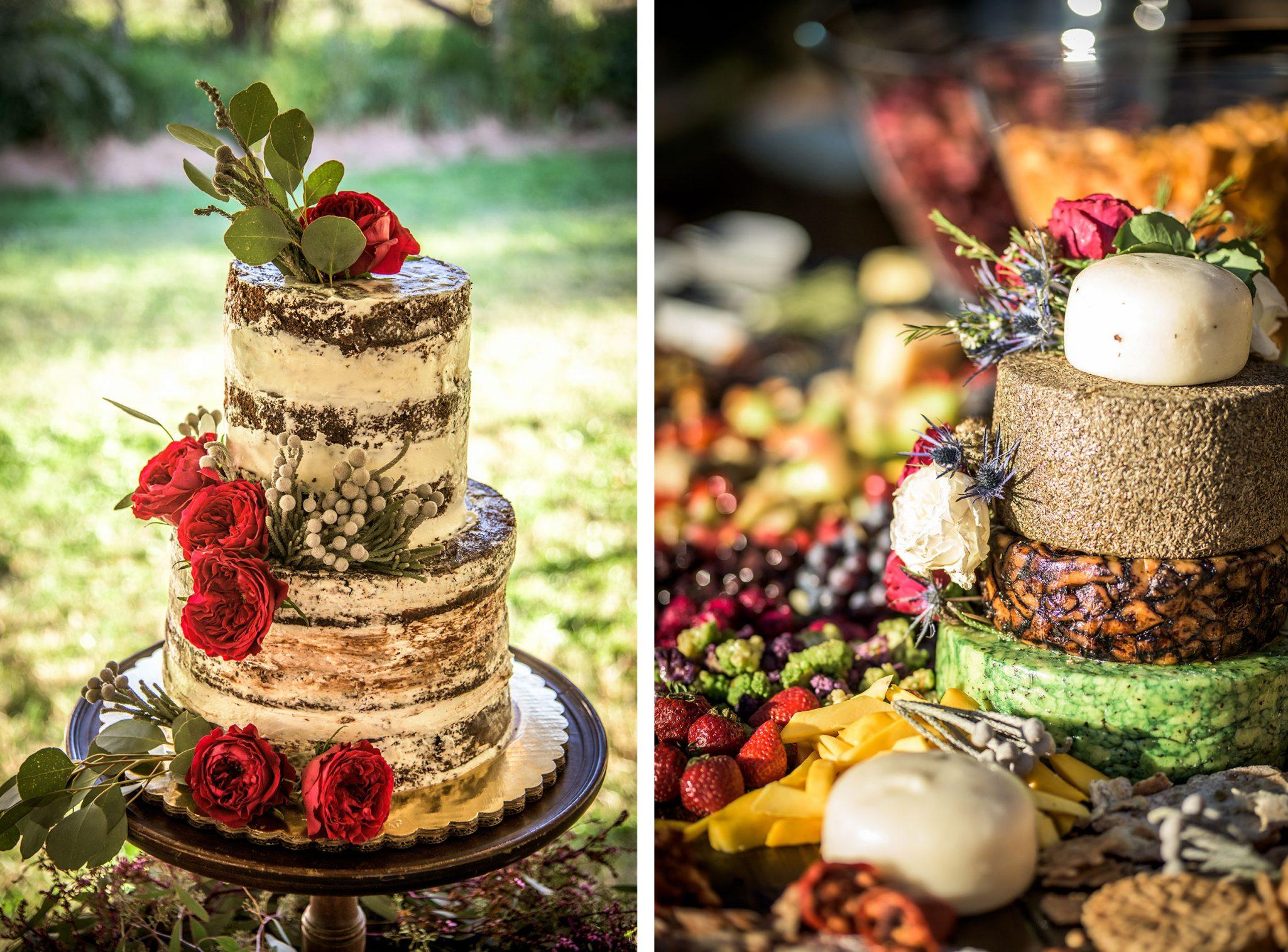 Wedding reception food display, Durango, Colorado