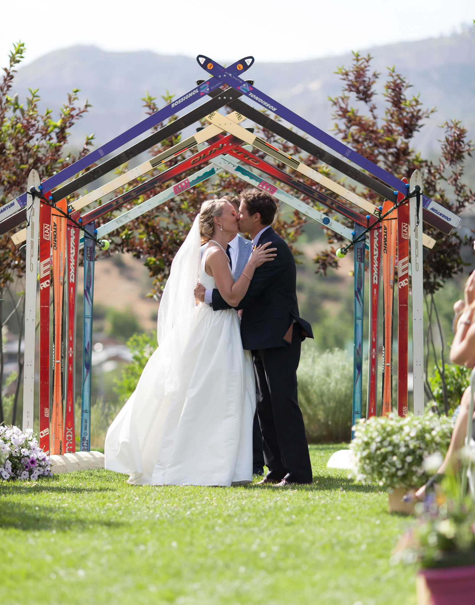 Custom ceremony ski arbor
