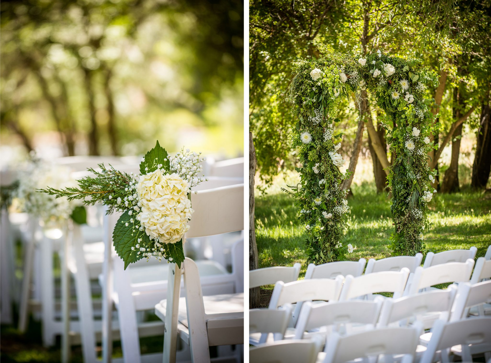 Ceremony floral along the Animas River via Durango Weddings Magazine
