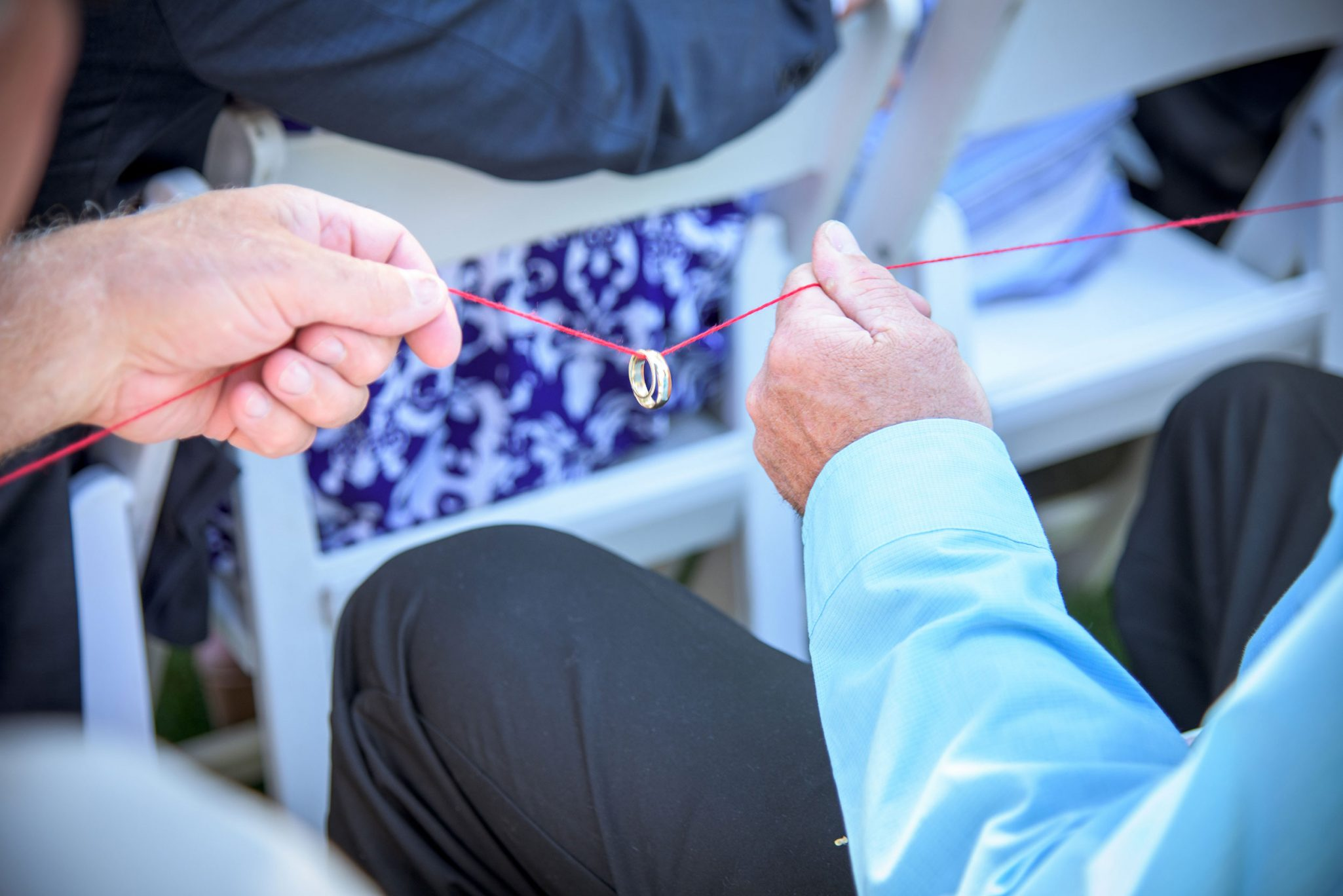 Wedding ceremony ring blessing via Durango Weddings Magazine