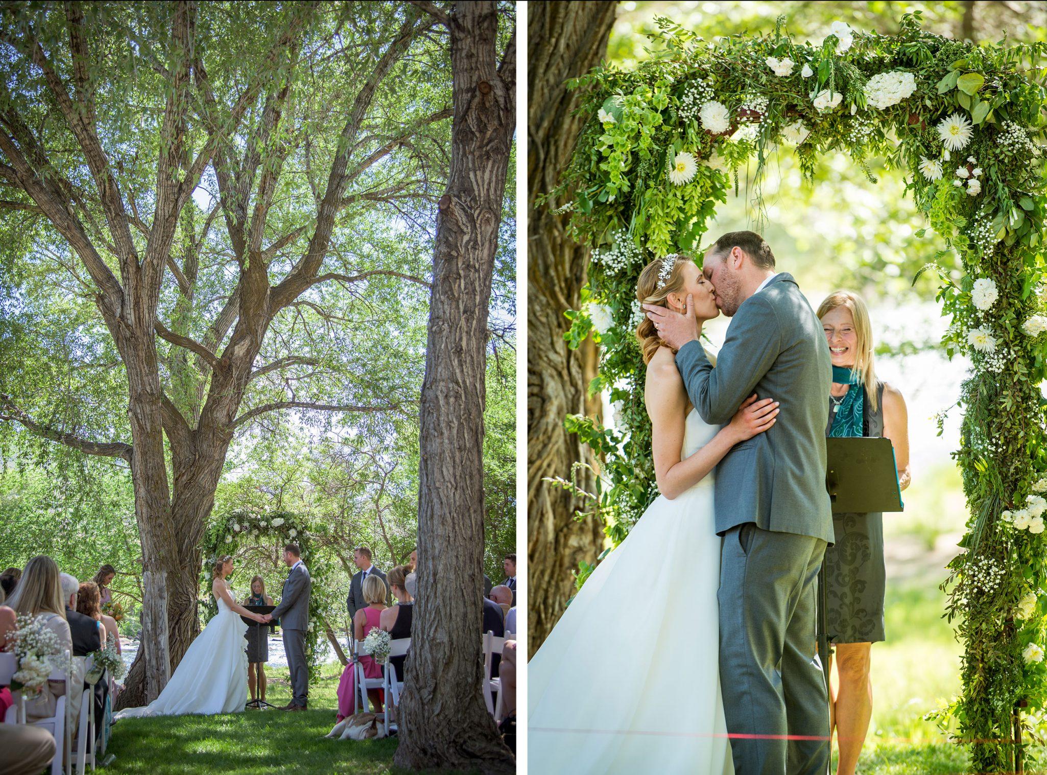 outdoor wedding ceremony via Durango Weddings Magazine