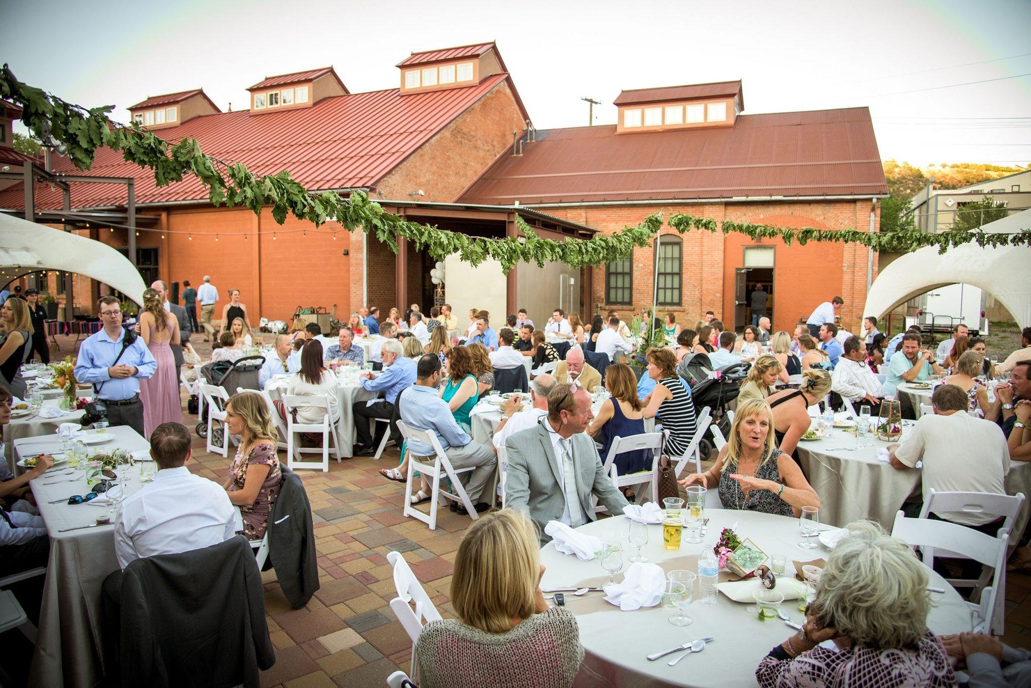 Wedding reception at the Powerhouse Science Museum Wedding ceremony via Durango Weddings Magazine