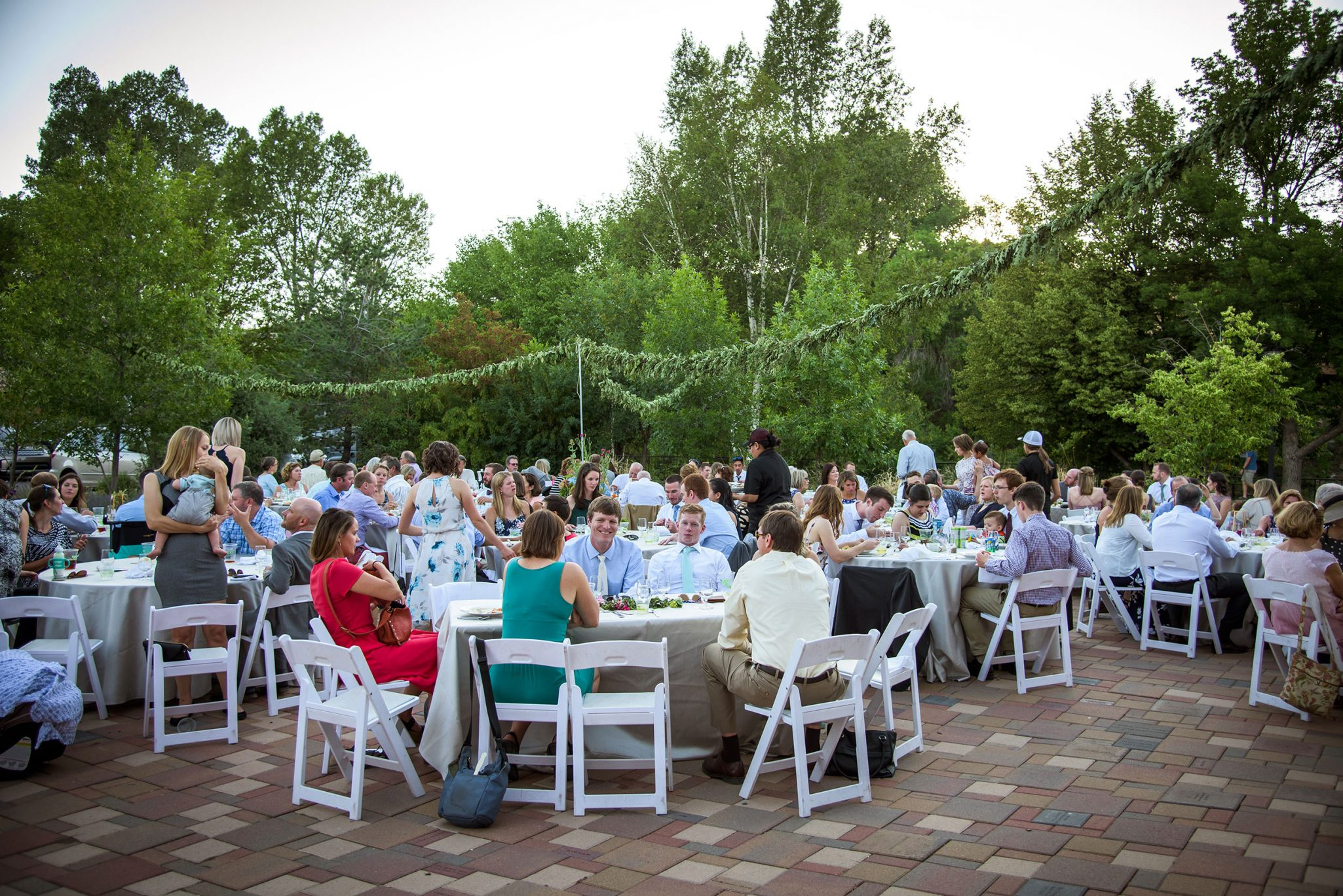 Wedding reception at the Powerhouse Science Museum Wedding ceremony via Durango Weddings Magazine