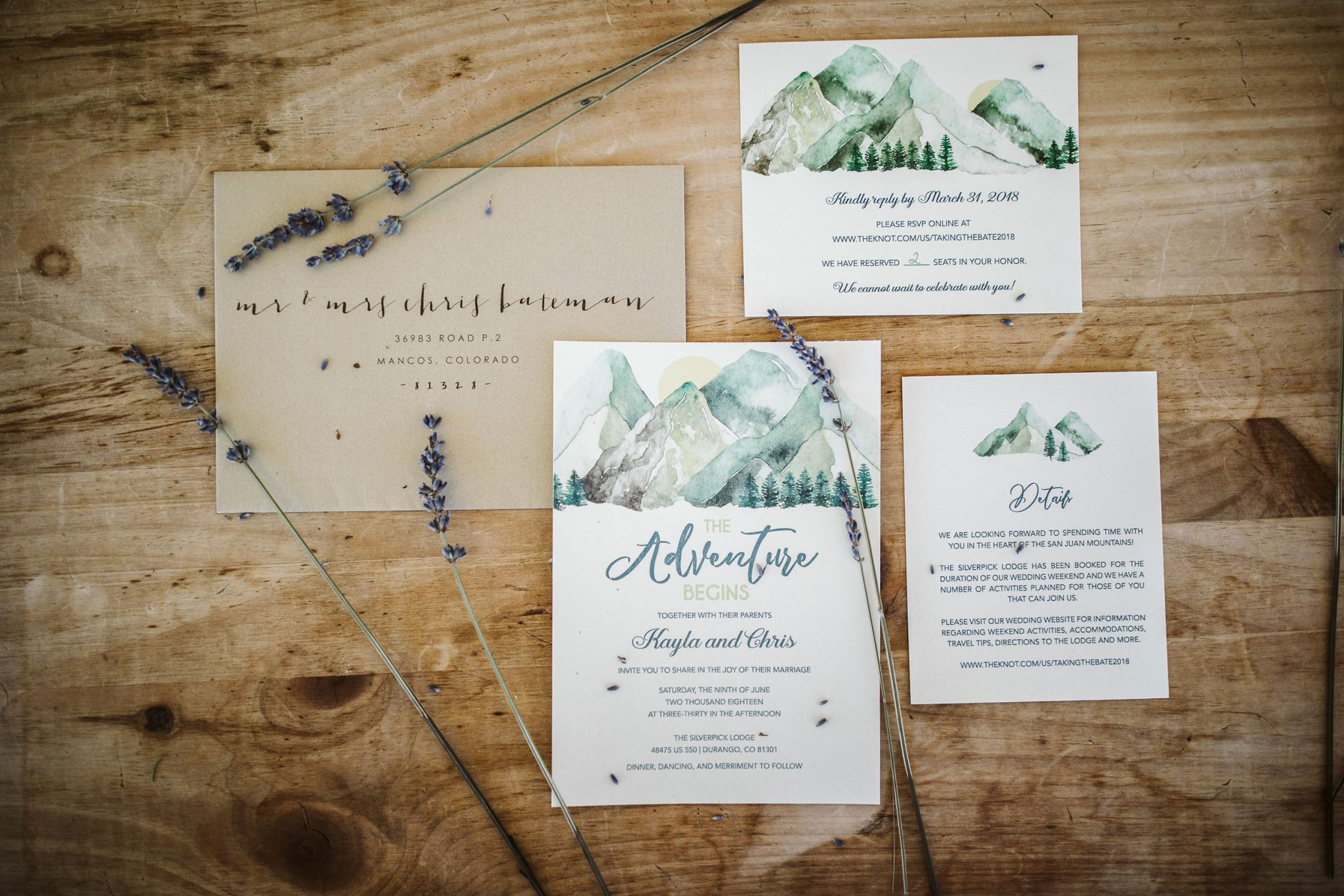 Mountain invitations | Durango Weddings Magazine